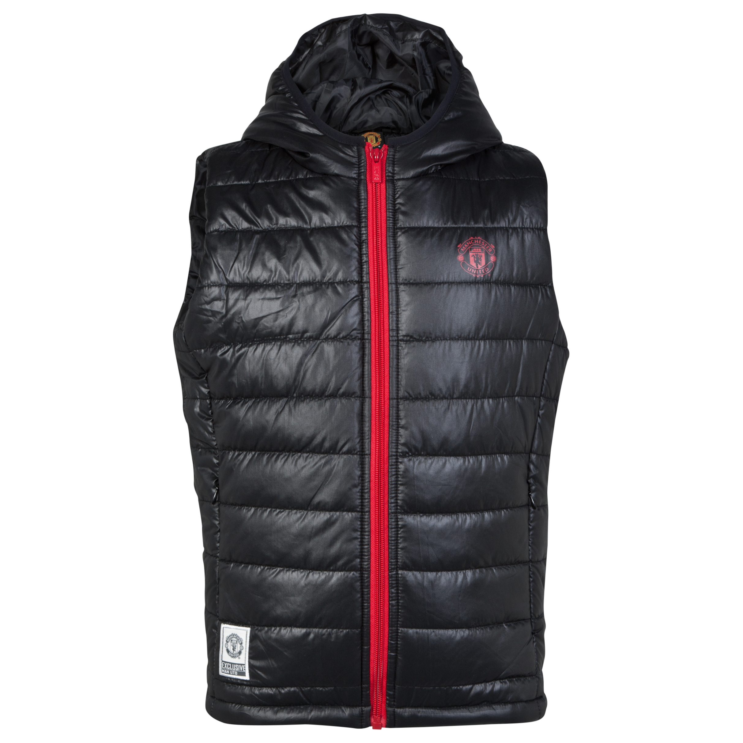 Manchester United Classic Quilted Gillet - Black - Older Boys