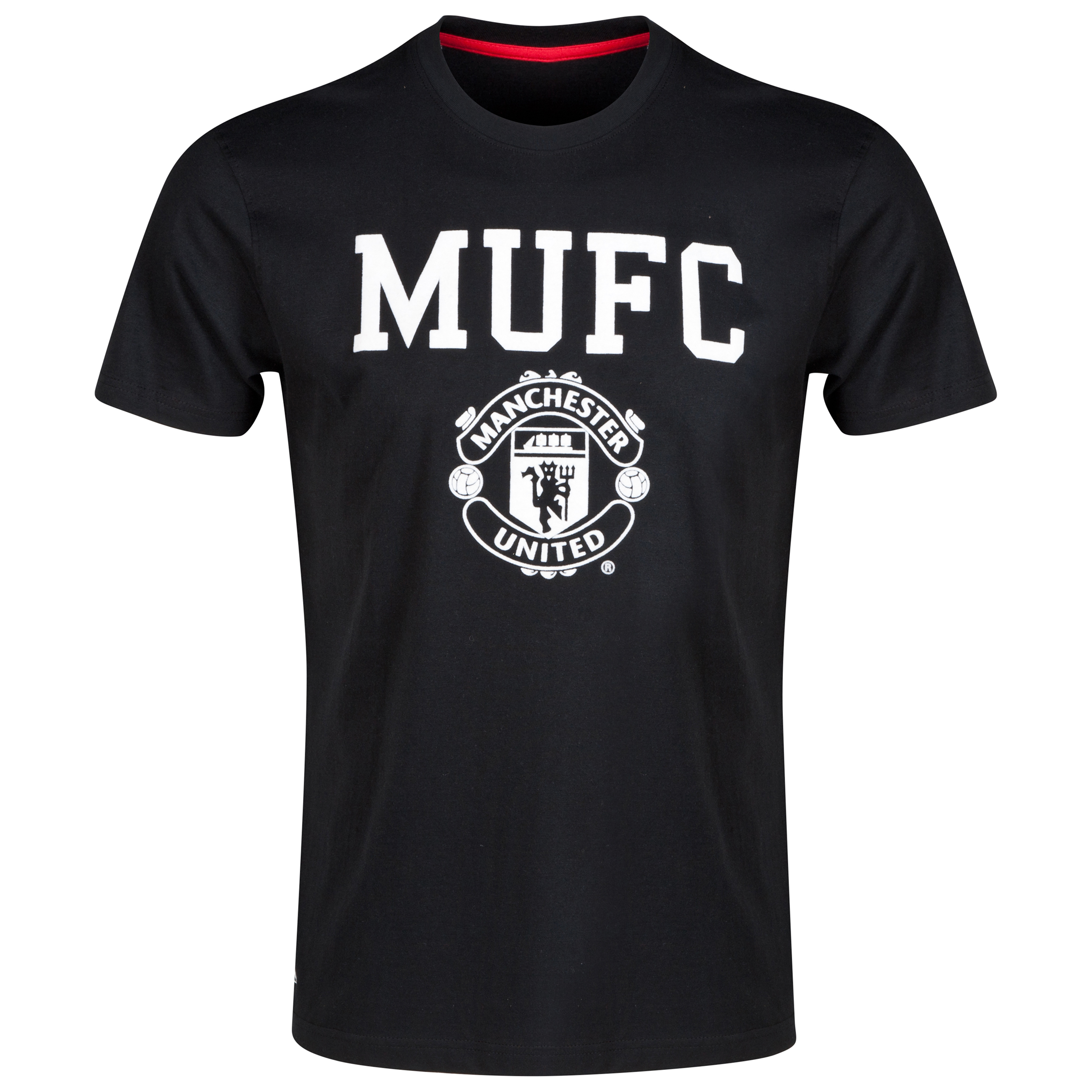 Manchester United Classic T-Shirt - Black - Mens