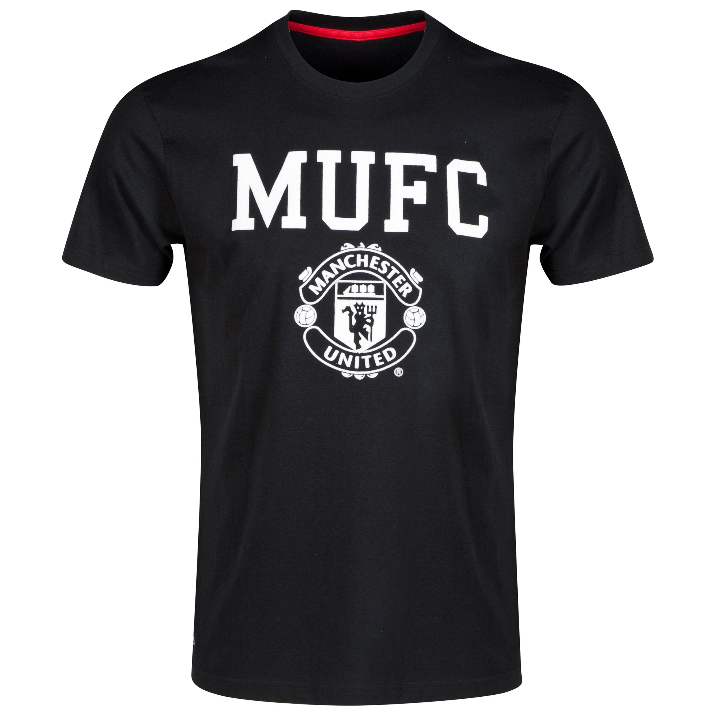 Manchester United Classic T-Shirt - Black - Mens