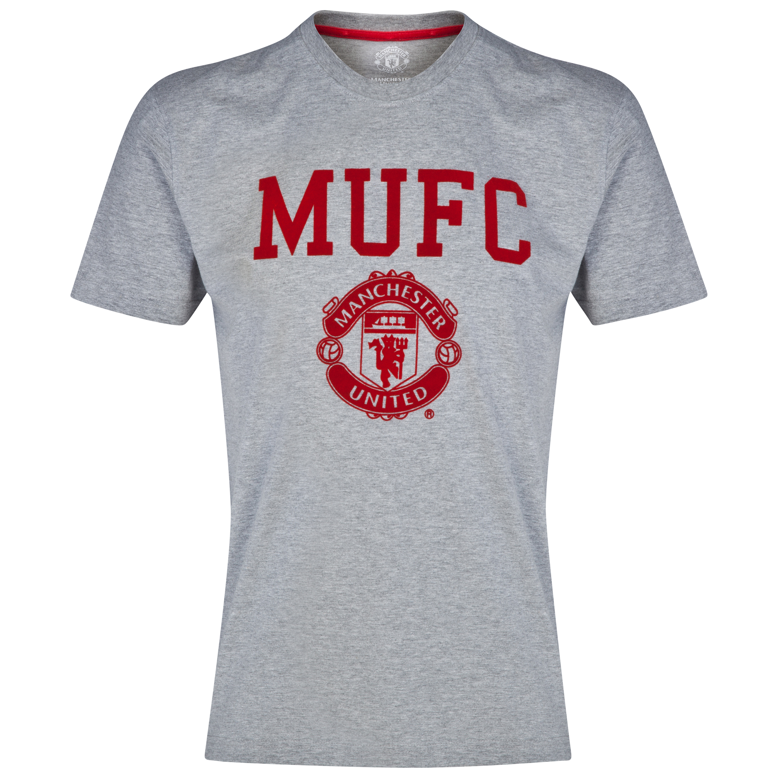 Manchester United Classic T-Shirt - Grey Marl - Mens