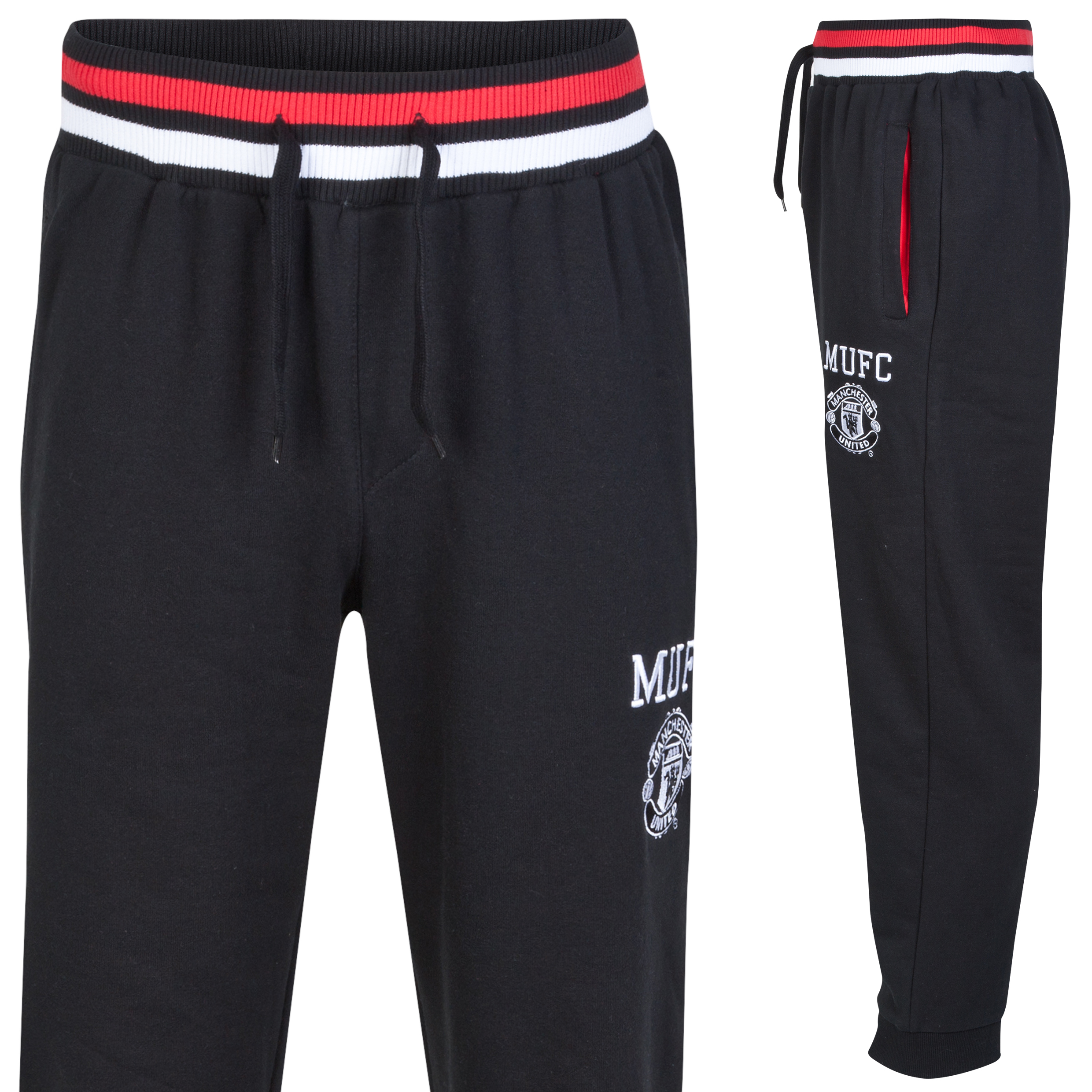 Manchester United Classic Fleece Jogger - Black - Mens