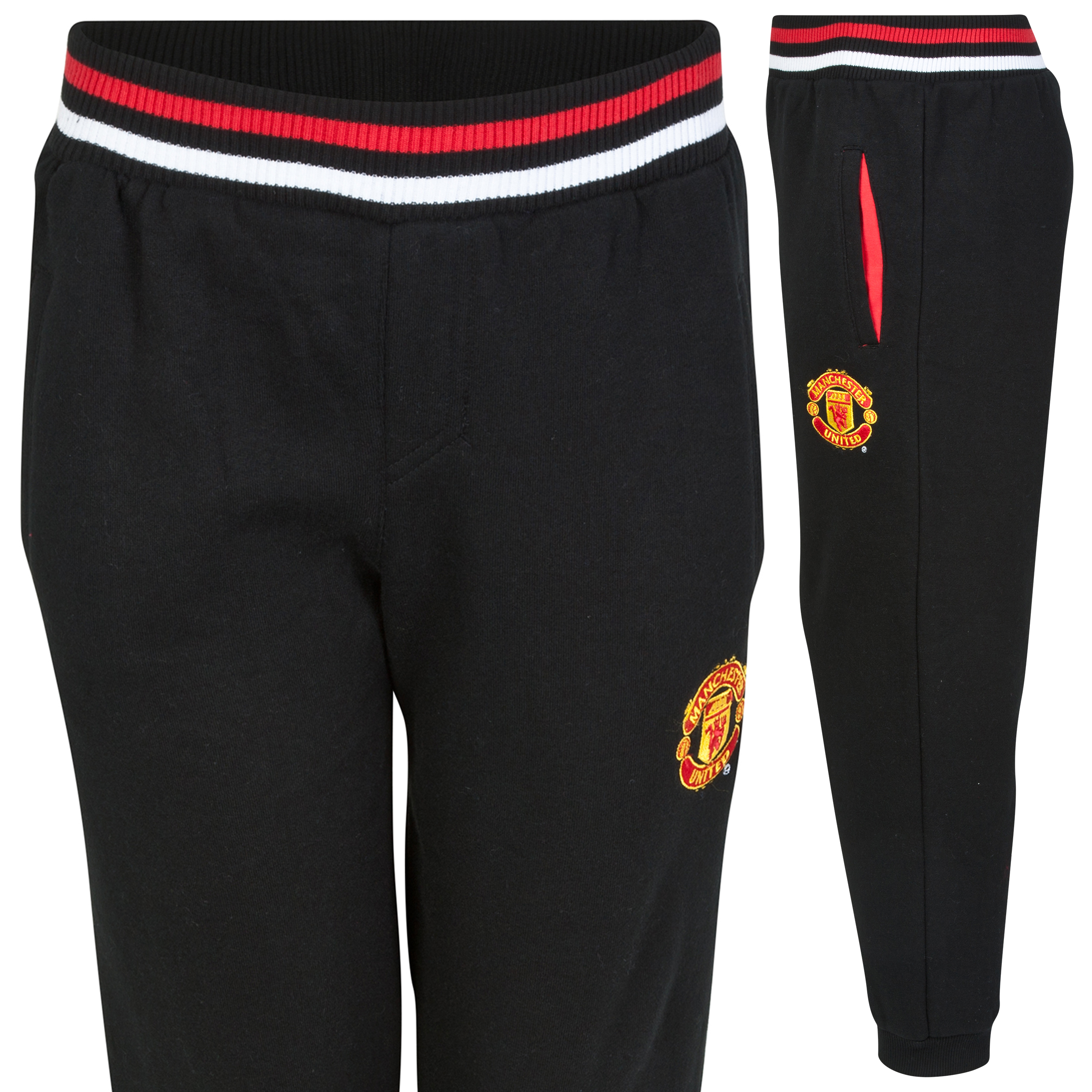 Manchester United Classic Fleece Joggers - Black - Older Boys