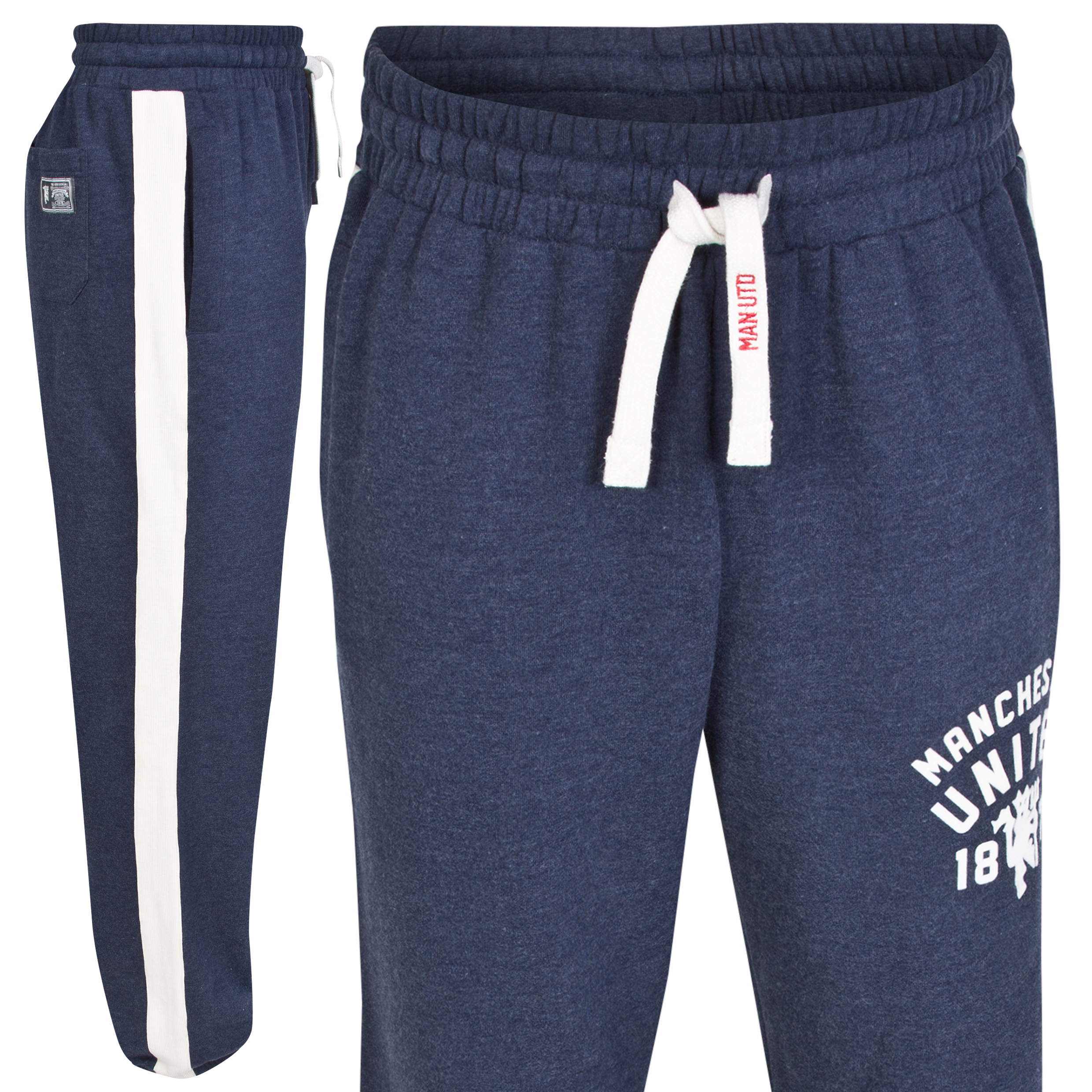 Manchester United Heritage Joggers - Heather Navy - Mens