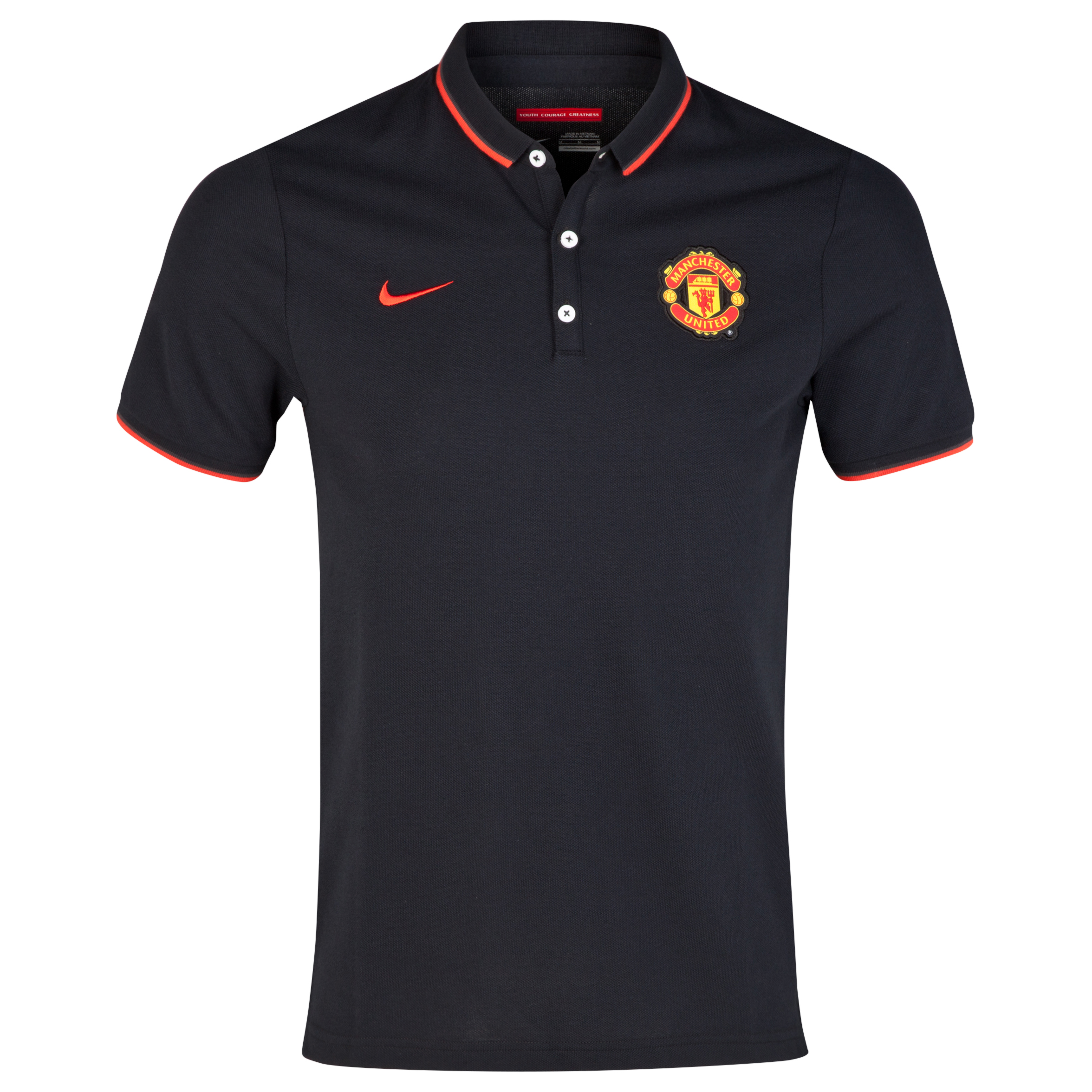 Manchester United League Authentic Polo-Black