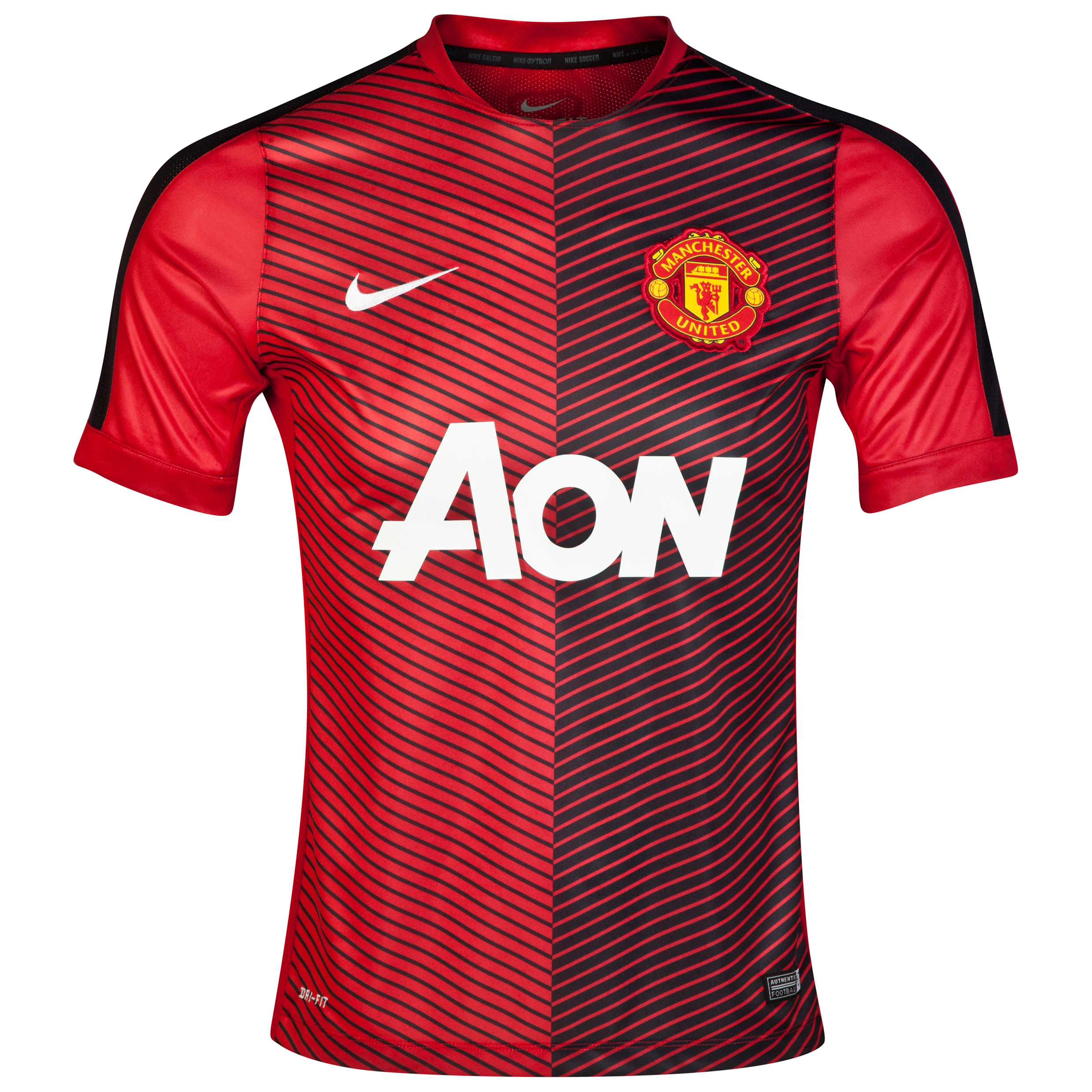 Manchester United Squad Short Sleeve Pre Match Top-Red