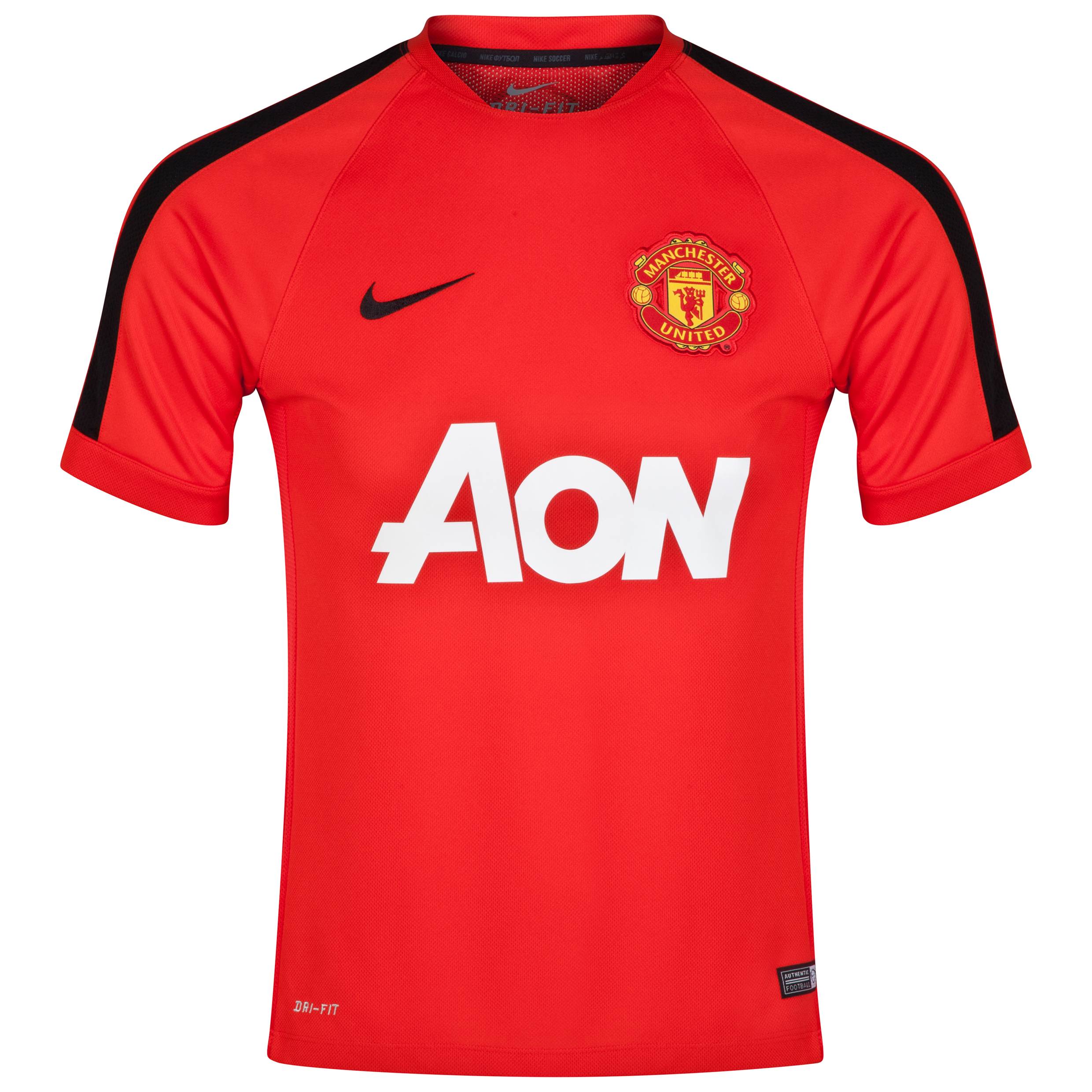 Manchester United Squad Short Sleeve Training Top-Red