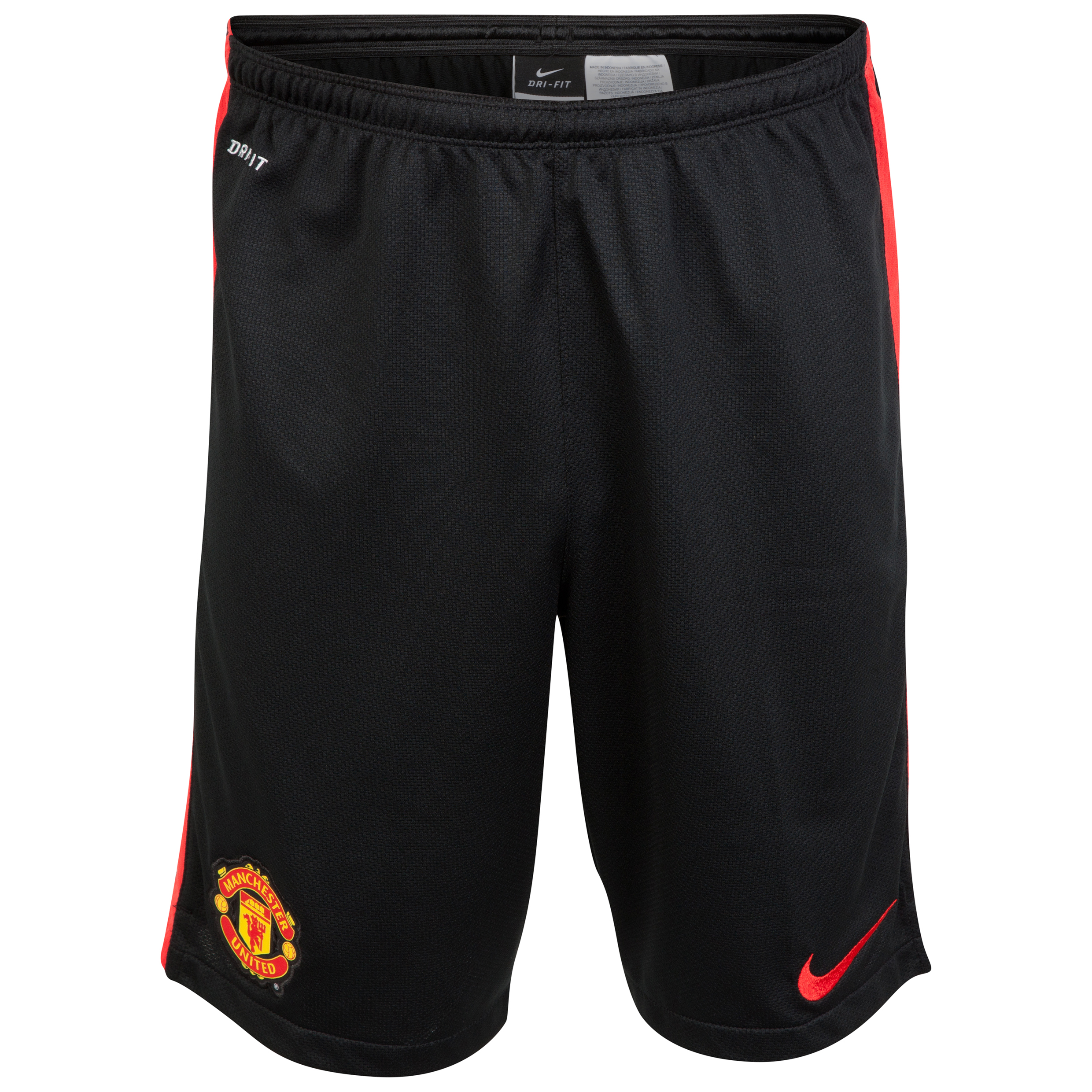 Manchester United Squad Longer Knit Shorts-Black