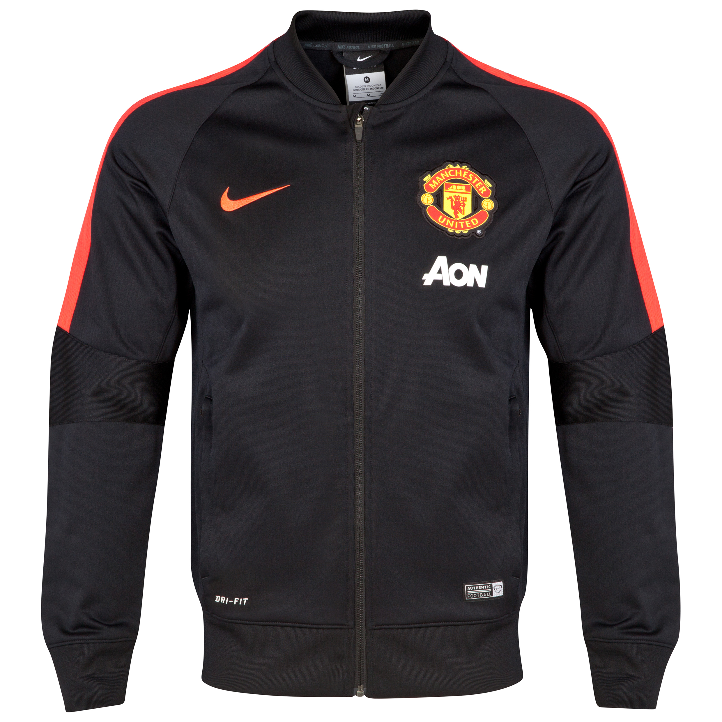 Manchester United Squad Sideline Knit Jacket-Black