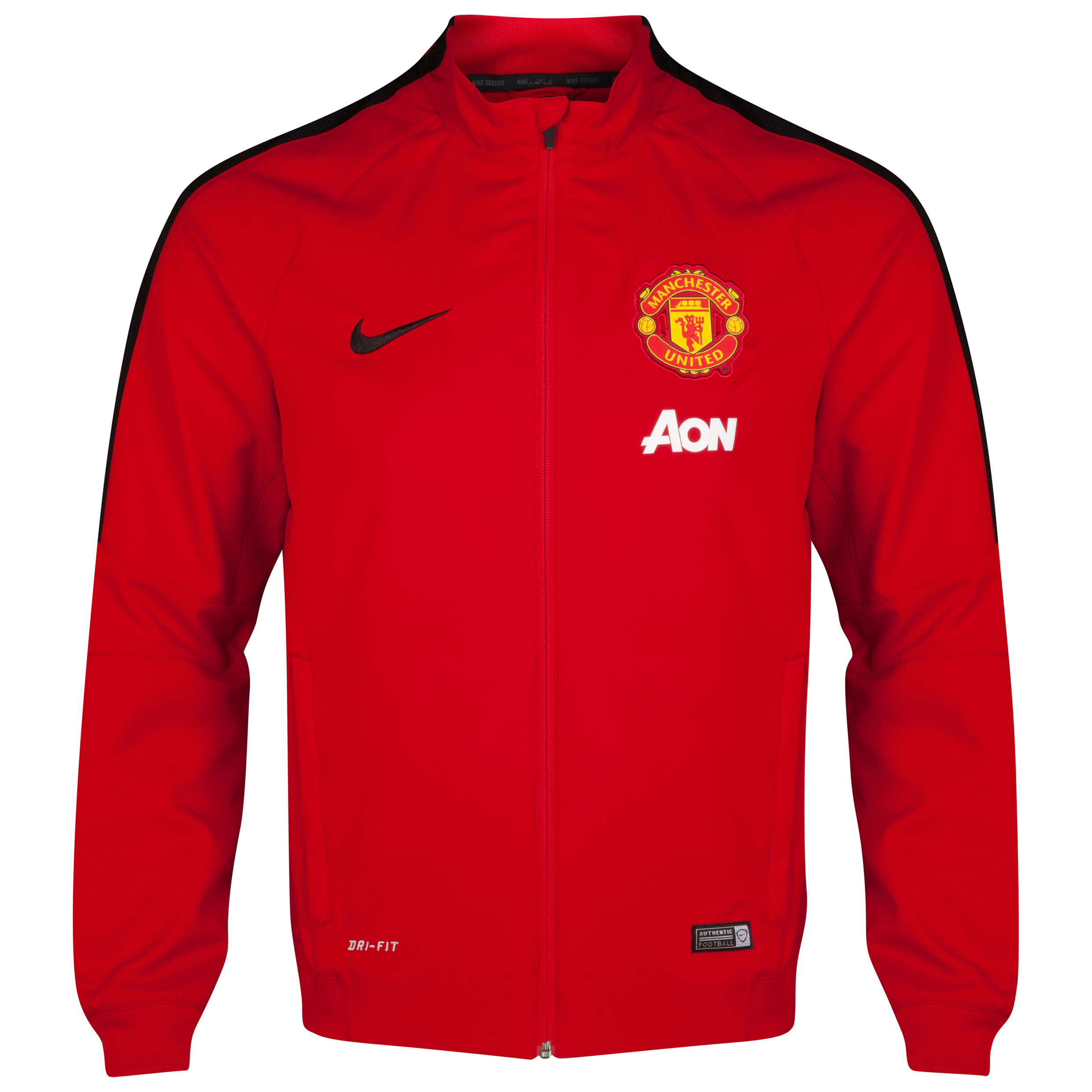 Manchester United Squad Sideline Woven Jacket-Red