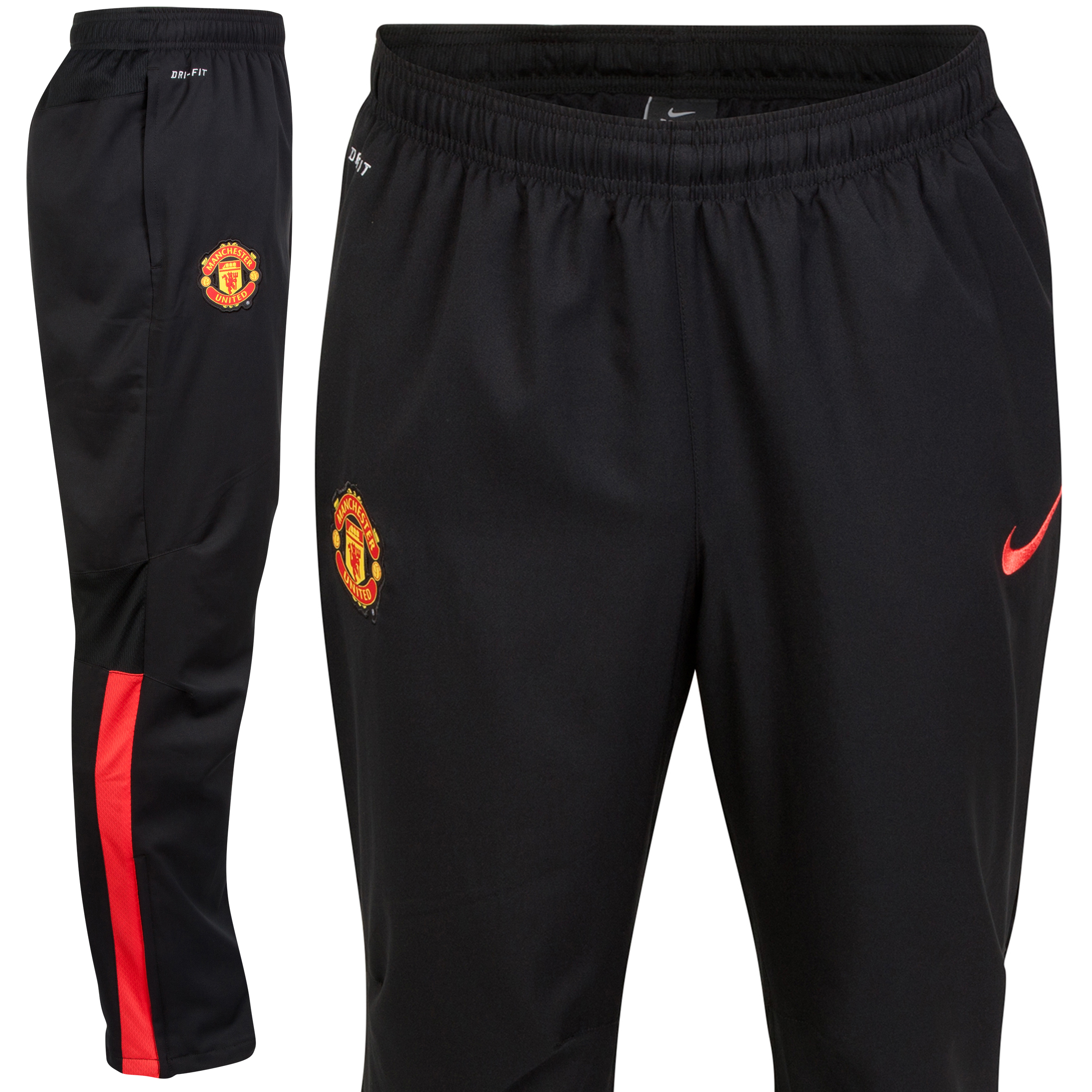 Manchester United Squad Sideline Woven Pant-Black