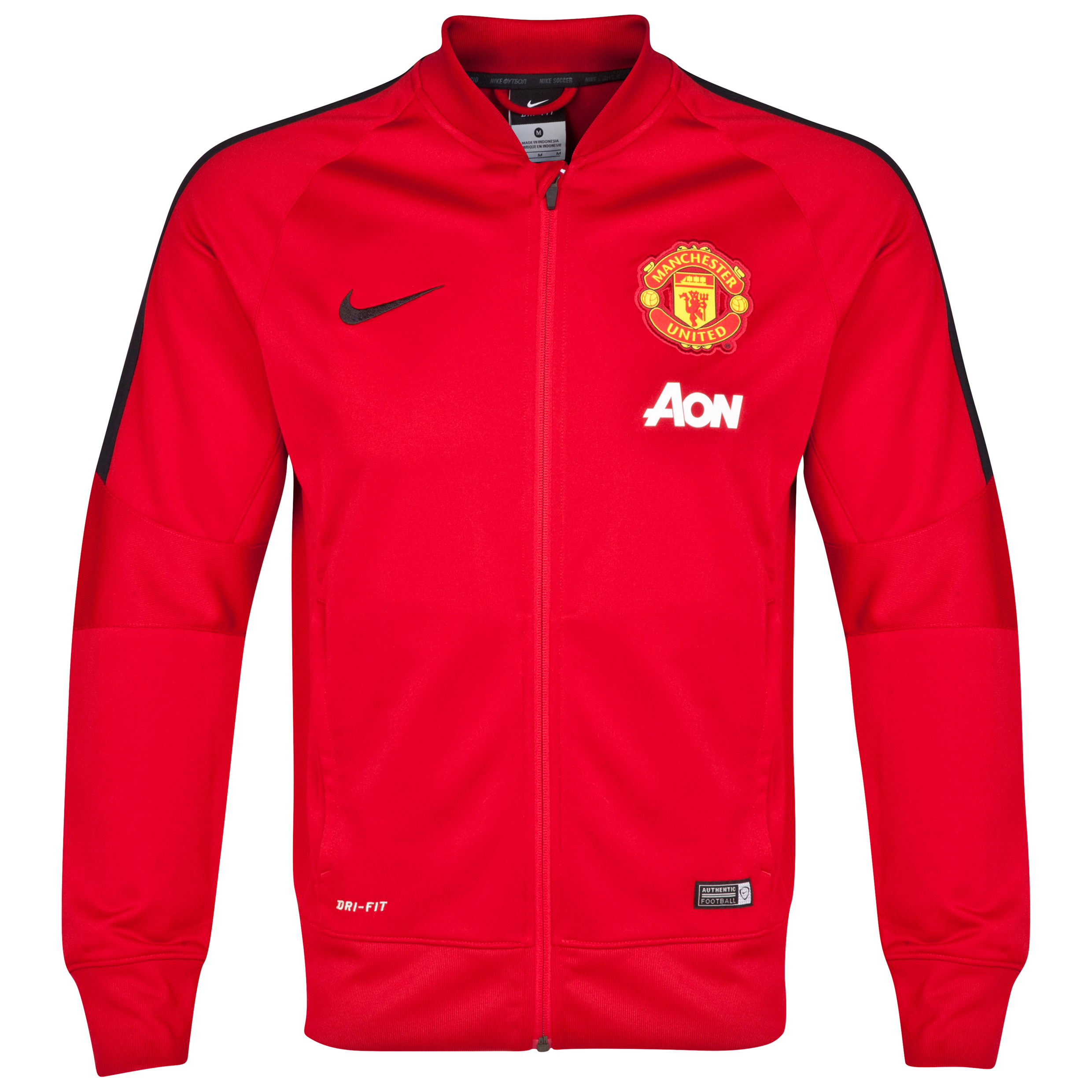 Manchester United Squad Sideline Knit Jacket-Red
