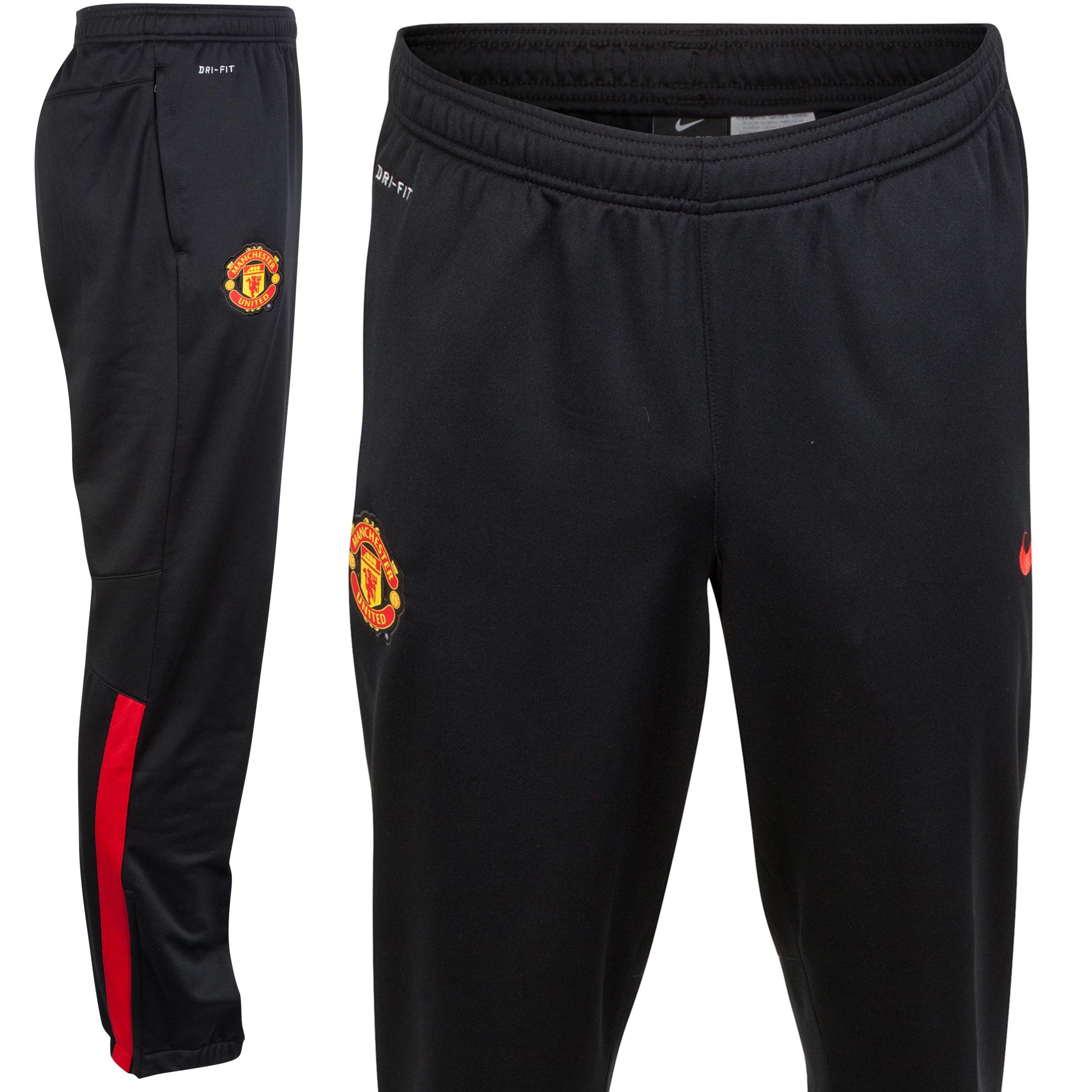 Manchester United Squad Sideline Knit Pant-Black