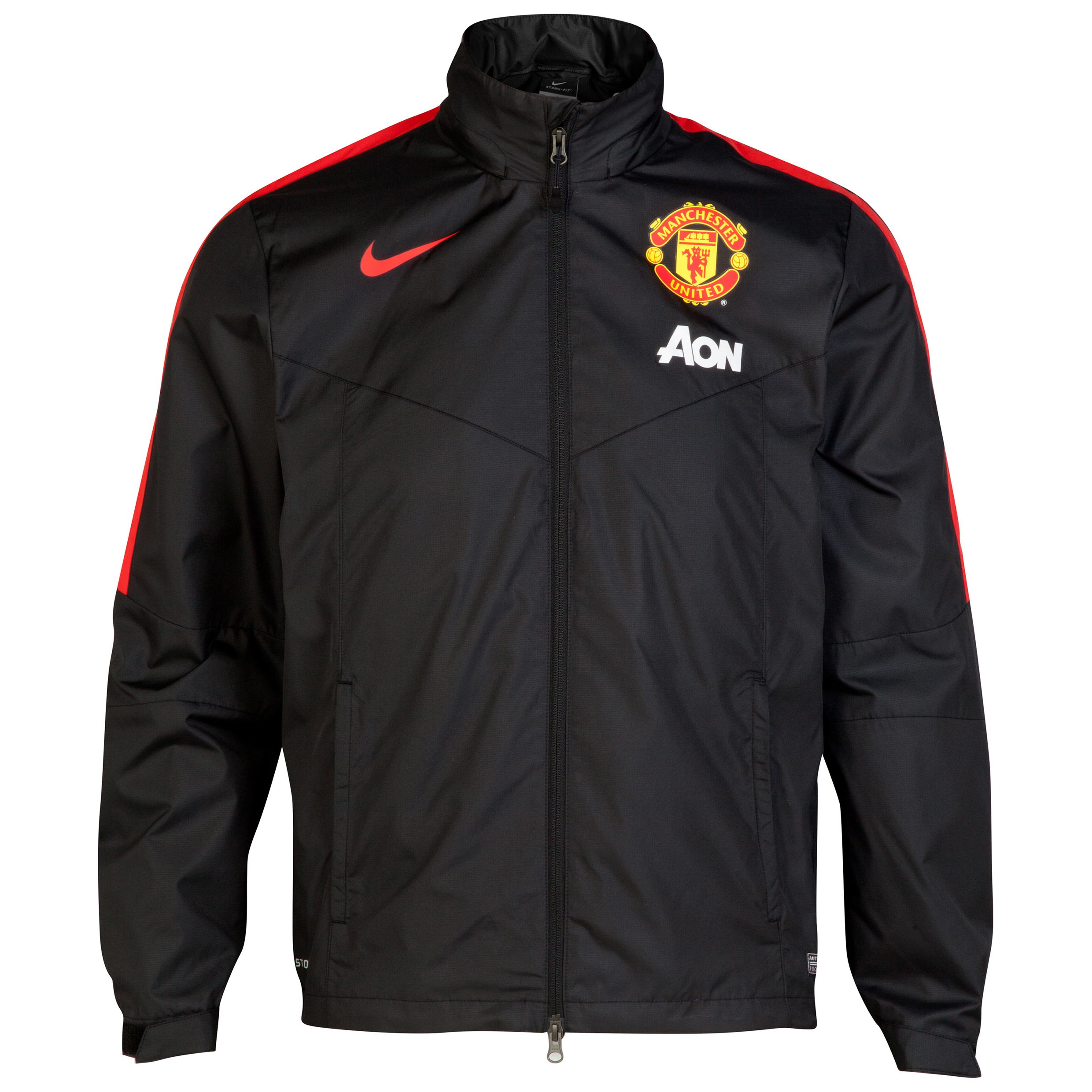 Manchester United Squad Rain Jacket-Black