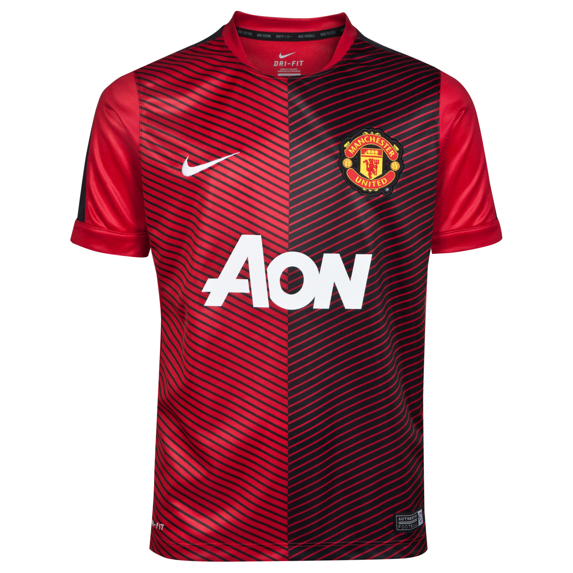 Manchester United Squad Short Sleeve Pre Match Top - Kids-Red