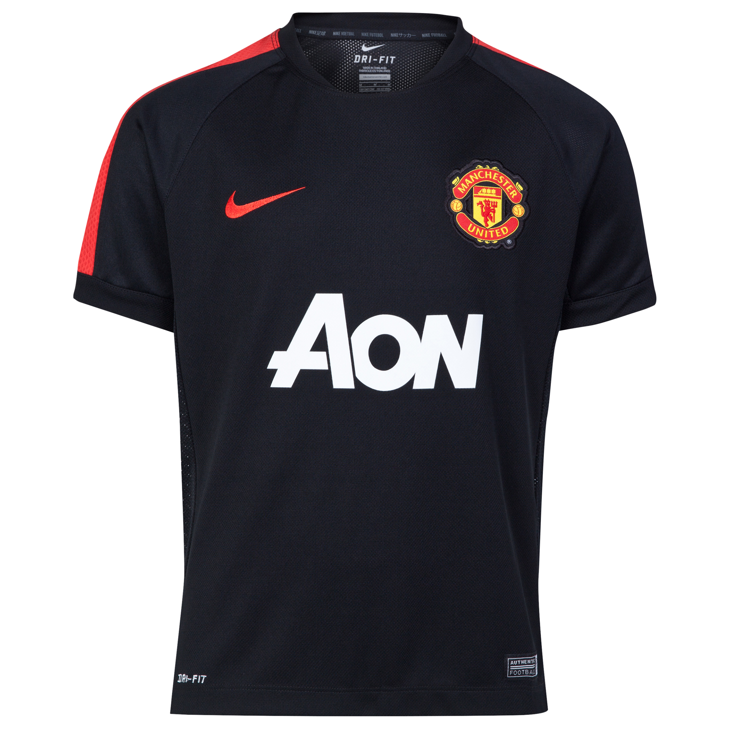 Manchester United Squad Short Sleeve Training Top - Kids-Black