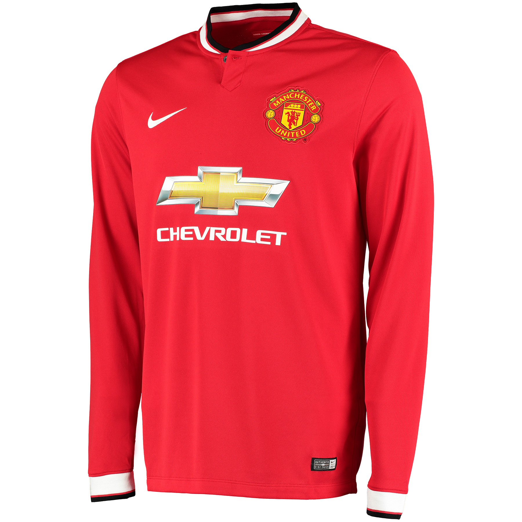 Manchester United Home Shirt 2014/15 - Long Sleeve - Kids