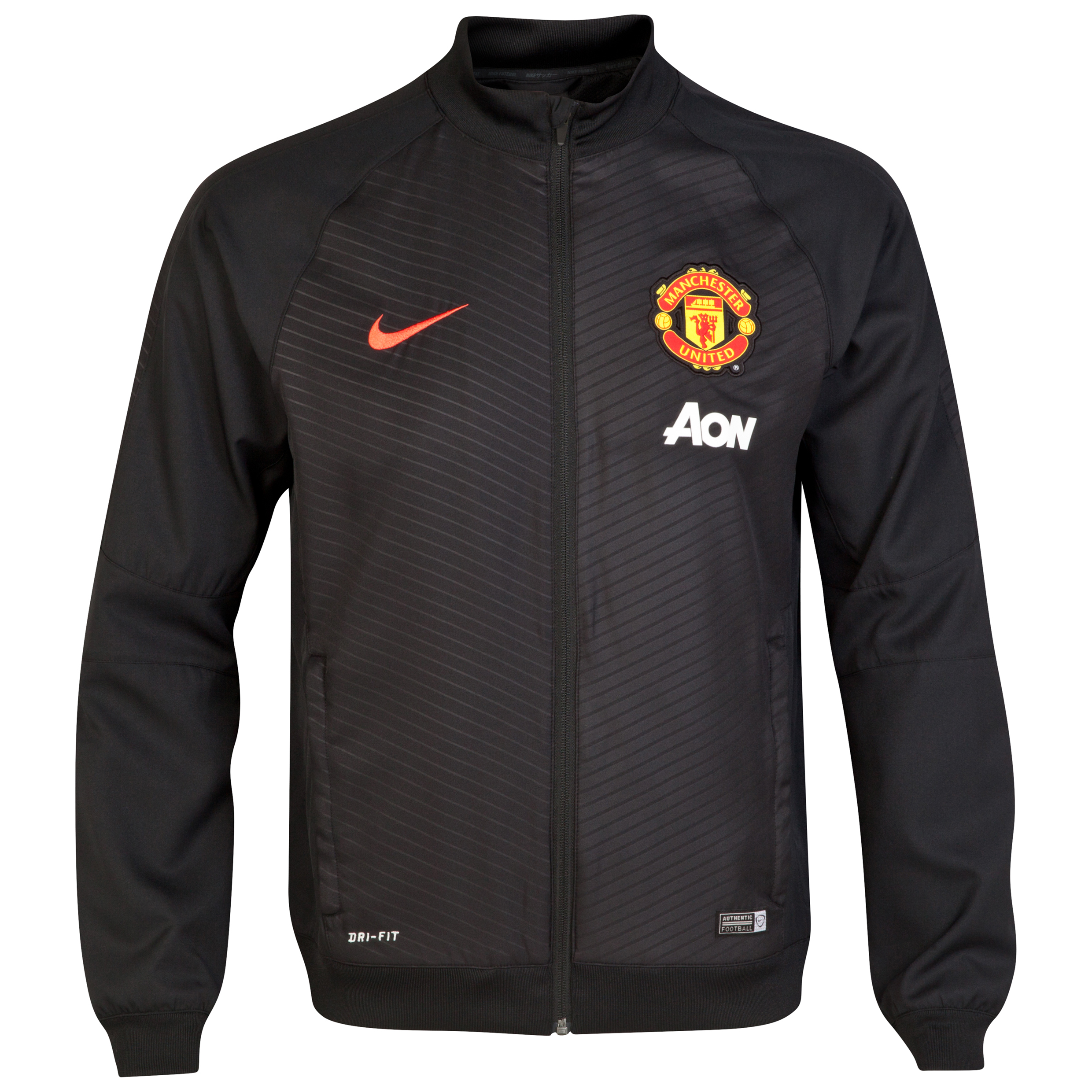 Manchester United Squad Pre Match Sideline Woven Jacket-Blk