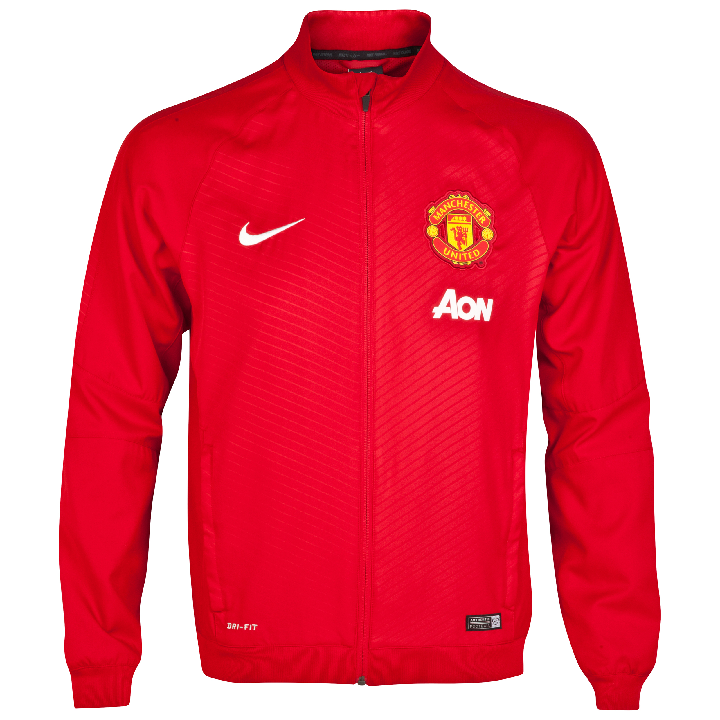 Manchester United Squad Pre Match Sideline Woven Jacket-Red