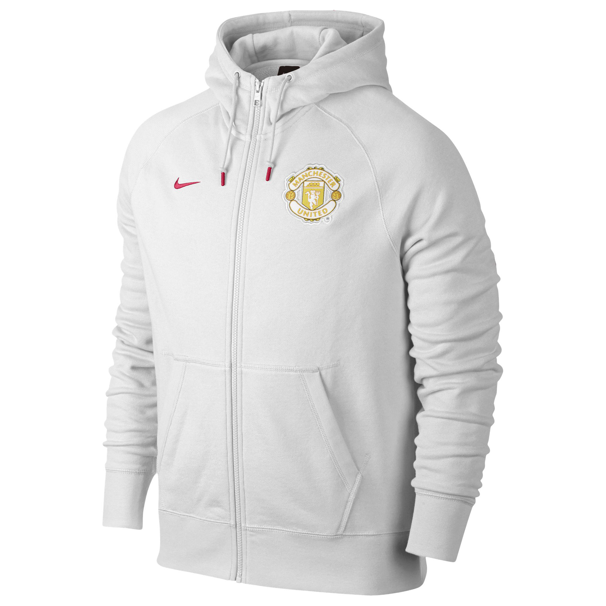 Manchester United Authentic AW77 FZ Hoody-White