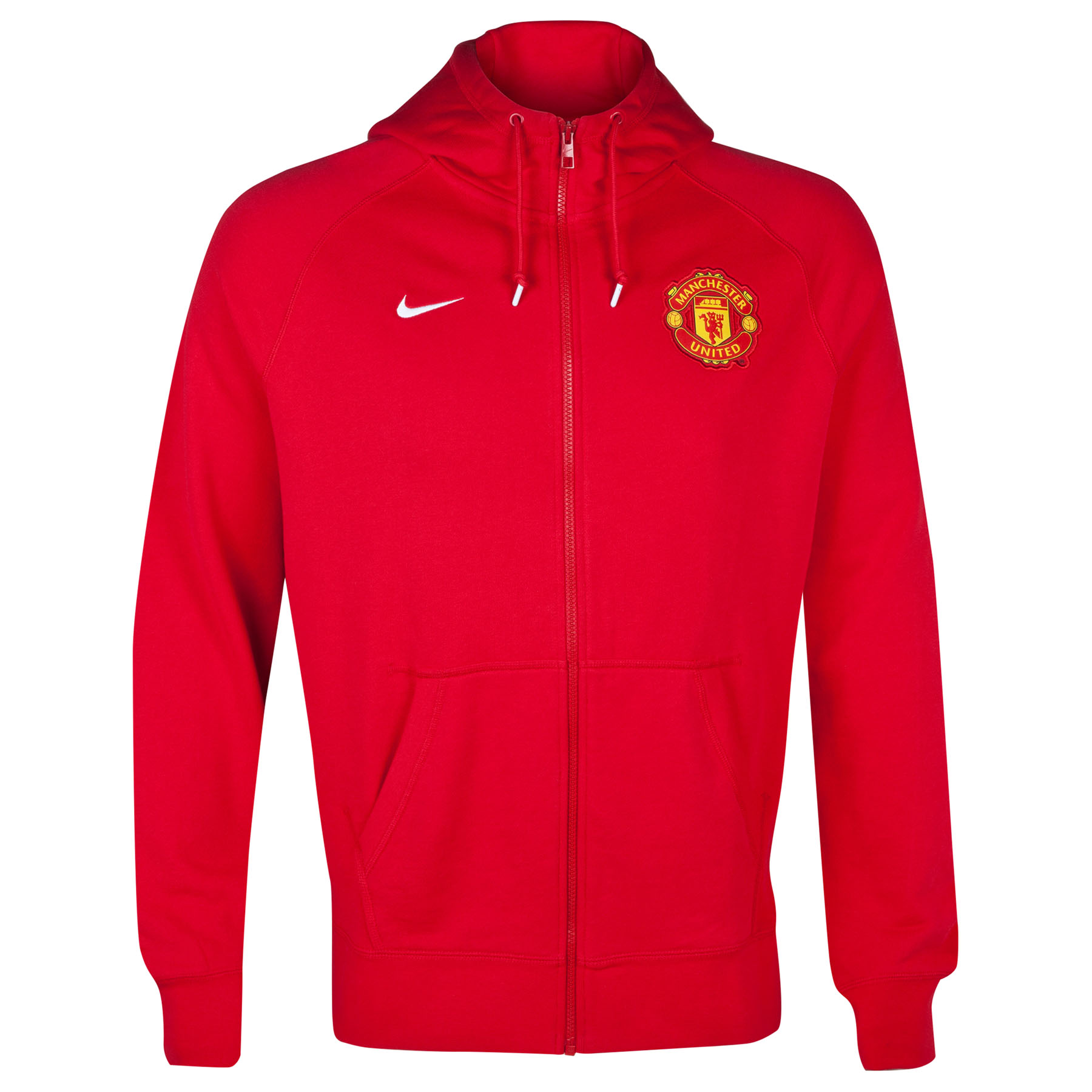 Manchester United Authentic AW77 FZ Hoody-Red