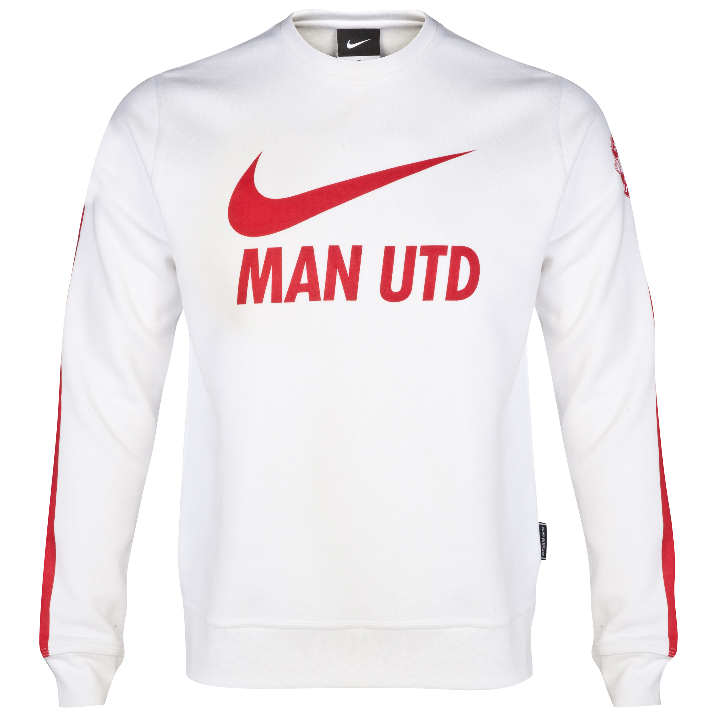 Manchester United Core Long Sleeve Crew Sweatshirt-White