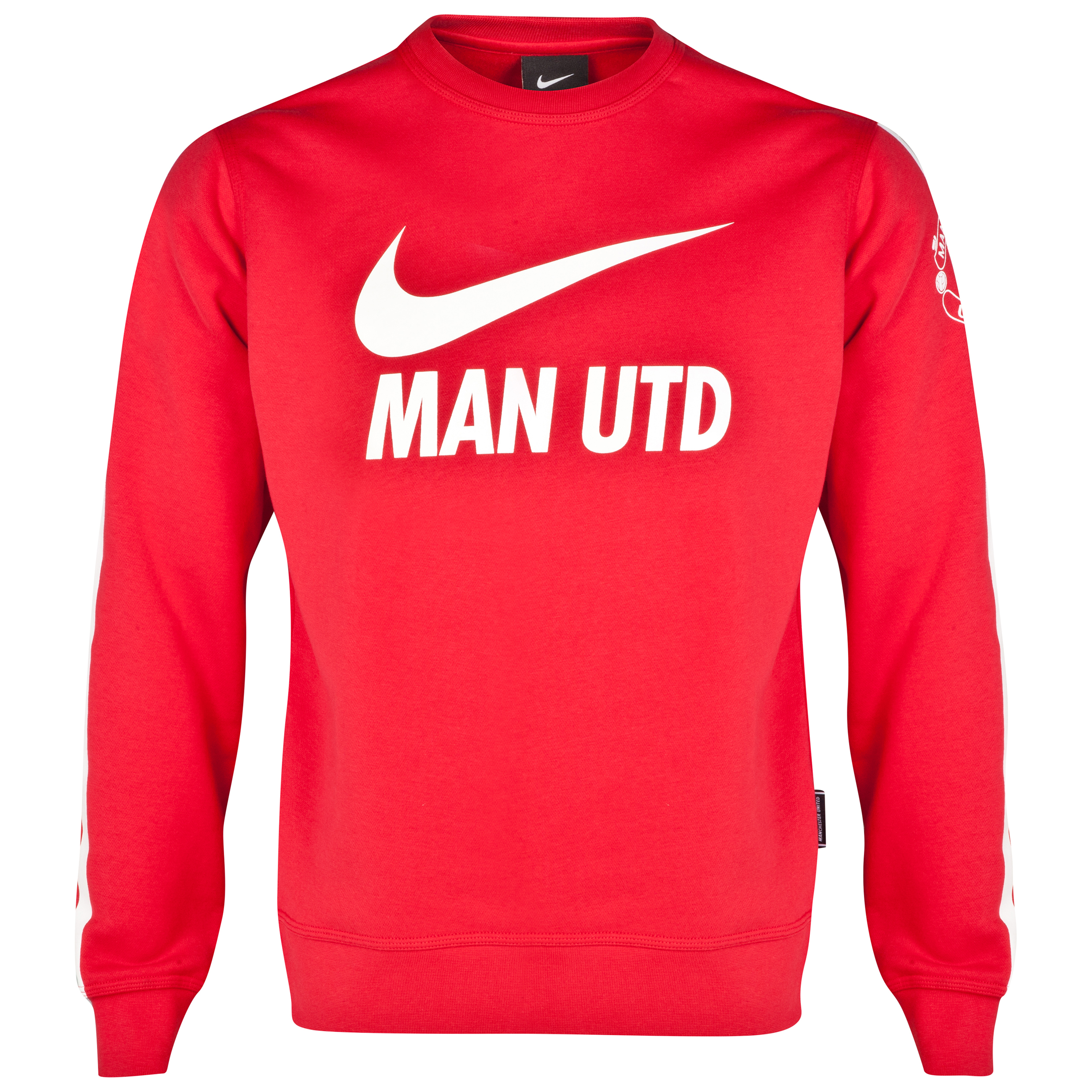 Manchester United Core Long Sleeve Crew Sweatshirt-Red Red