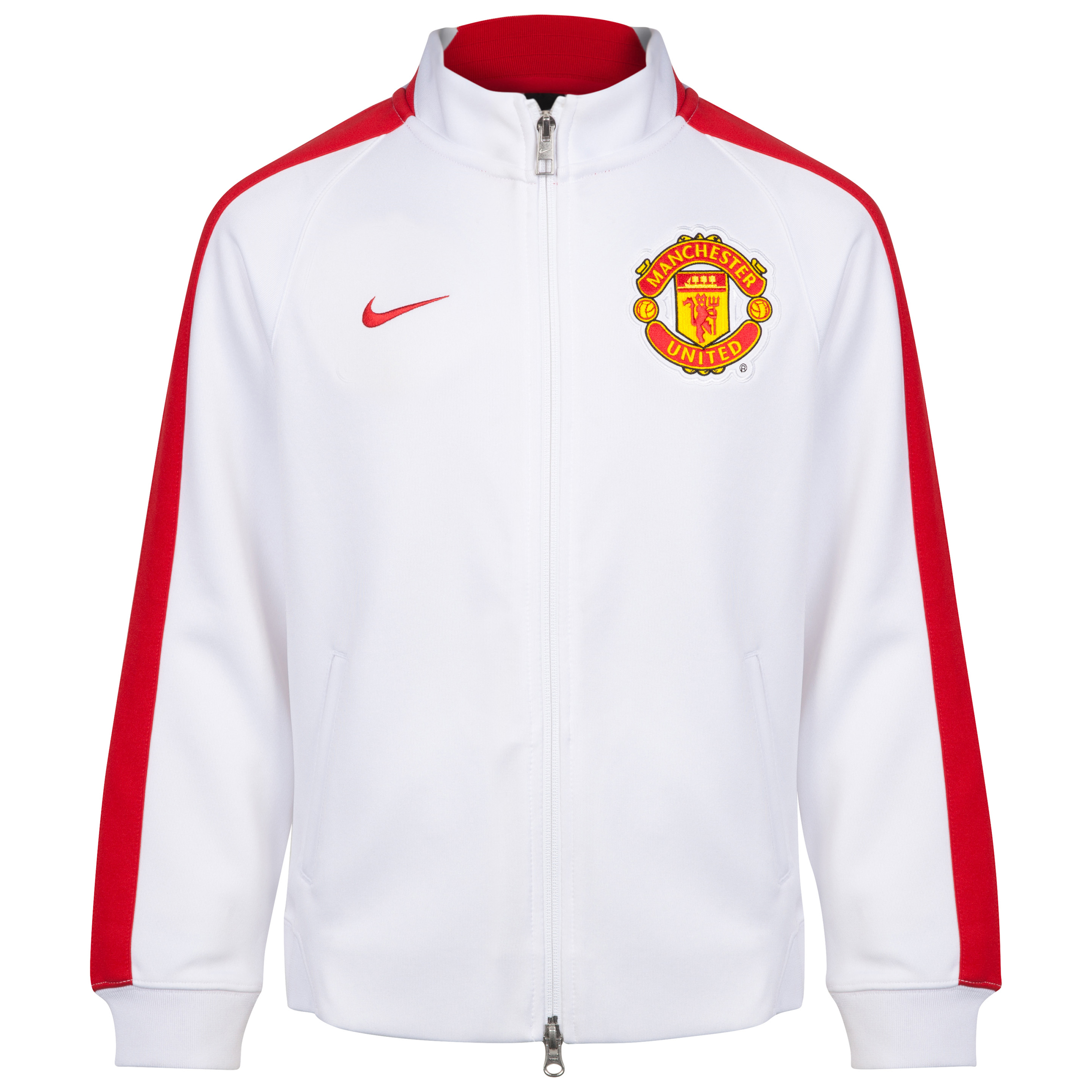 Manchester United Authentic N98 Jacket - Kids-White