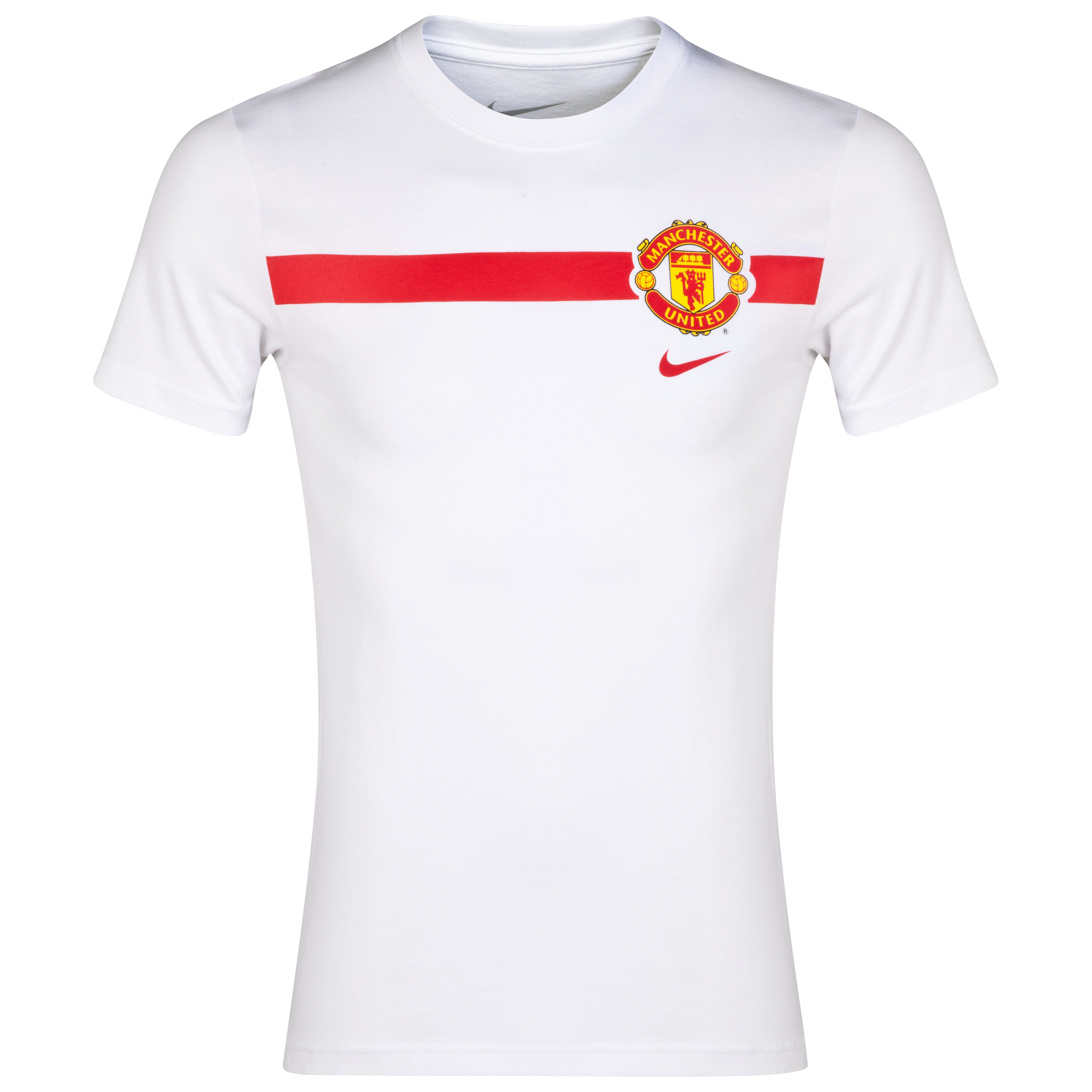 Manchester United TD Stripe T-Shirt - Kids-White