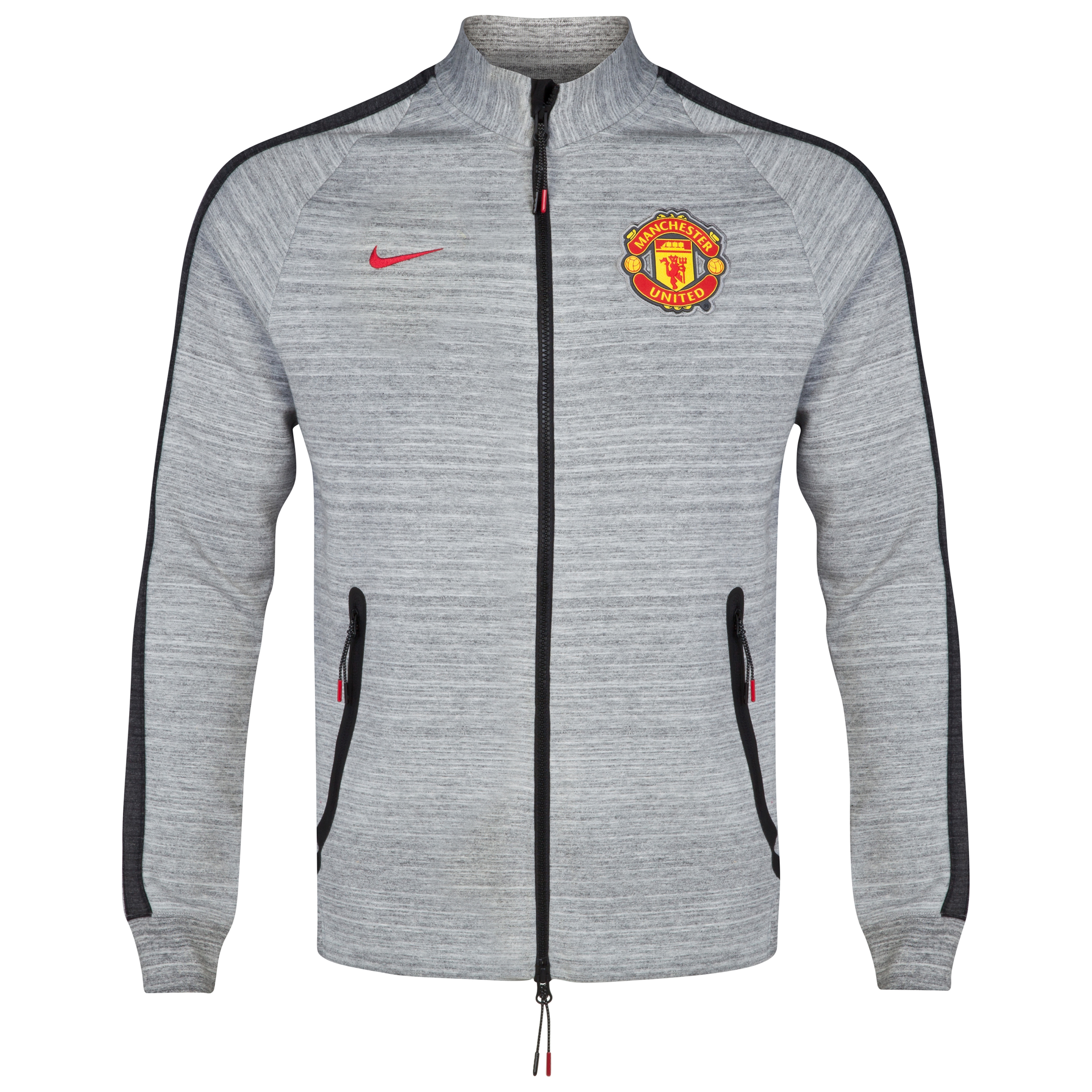Manchester United N98 Tech Fleece Track Jacket-Dk Grey