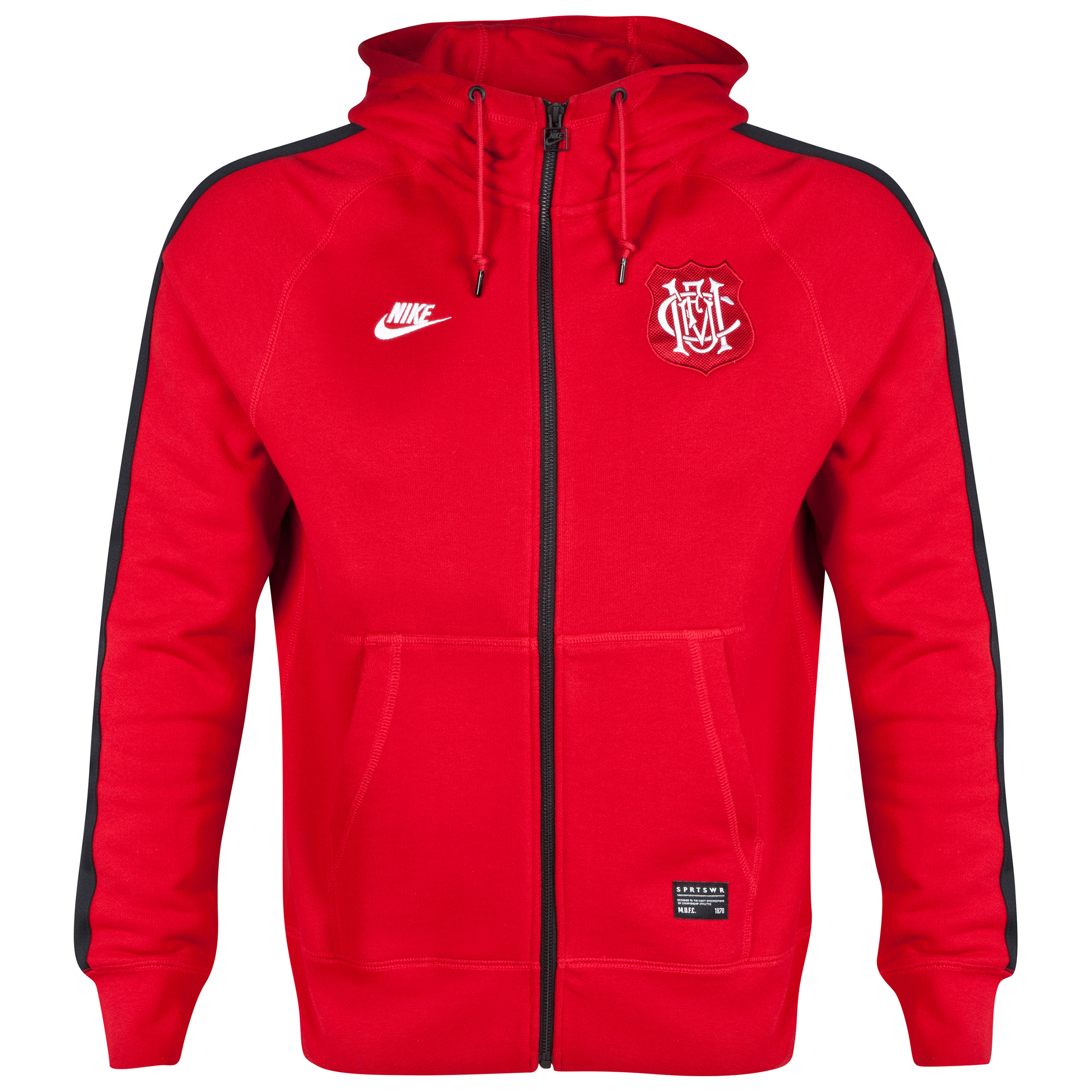 Manchester United Covert AW77 FZ Hoody-Red
