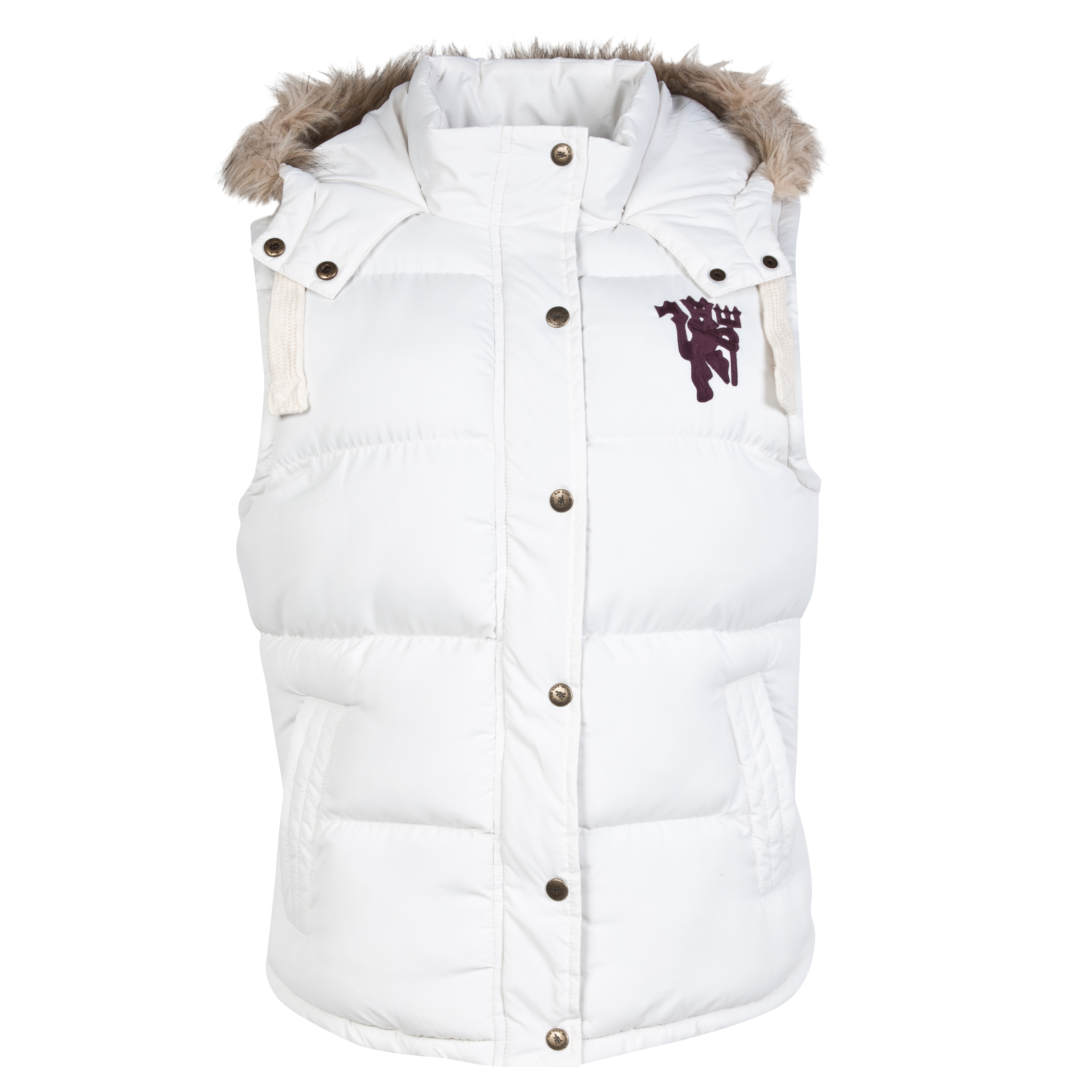 Manchester United Hooded Gilet - Papyrus Cream - Womens