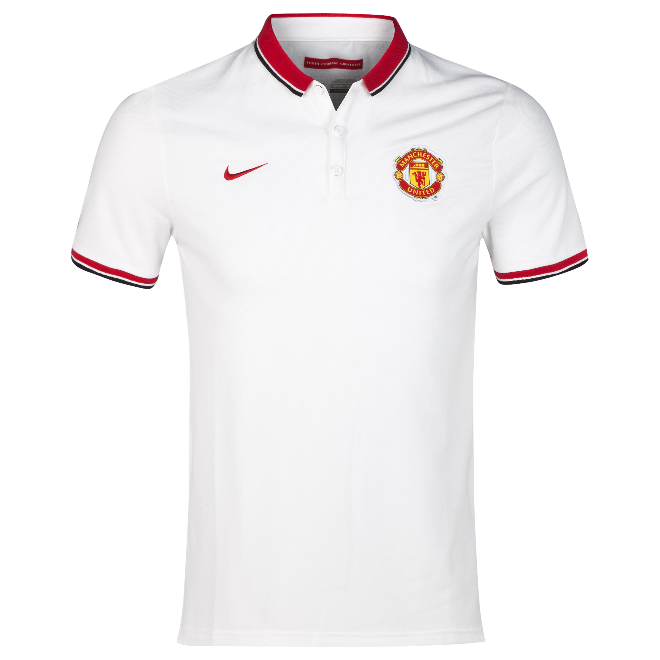 Manchester United League Authentic Polo White
