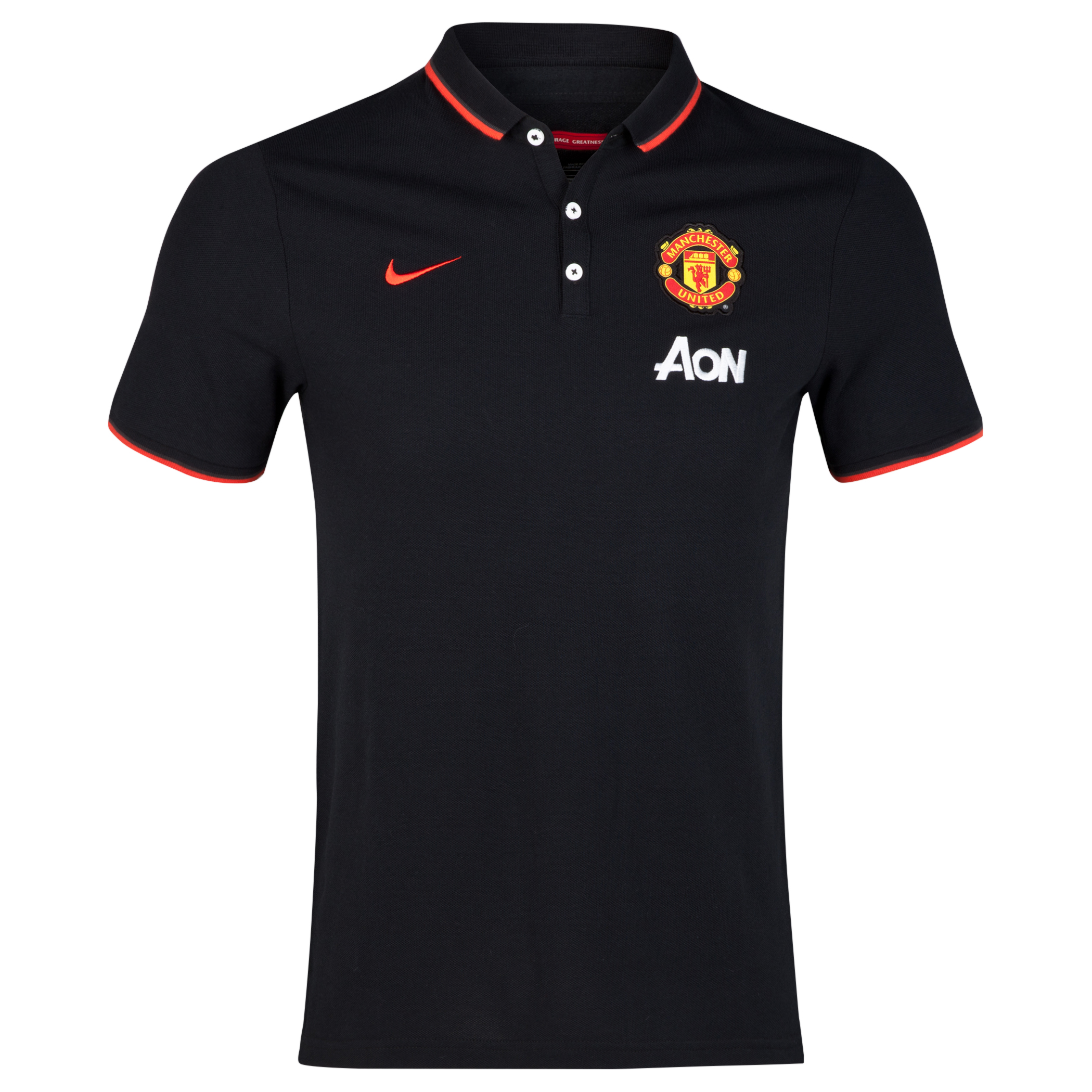 Manchester United League Authentic Polo - Sponsored-Black