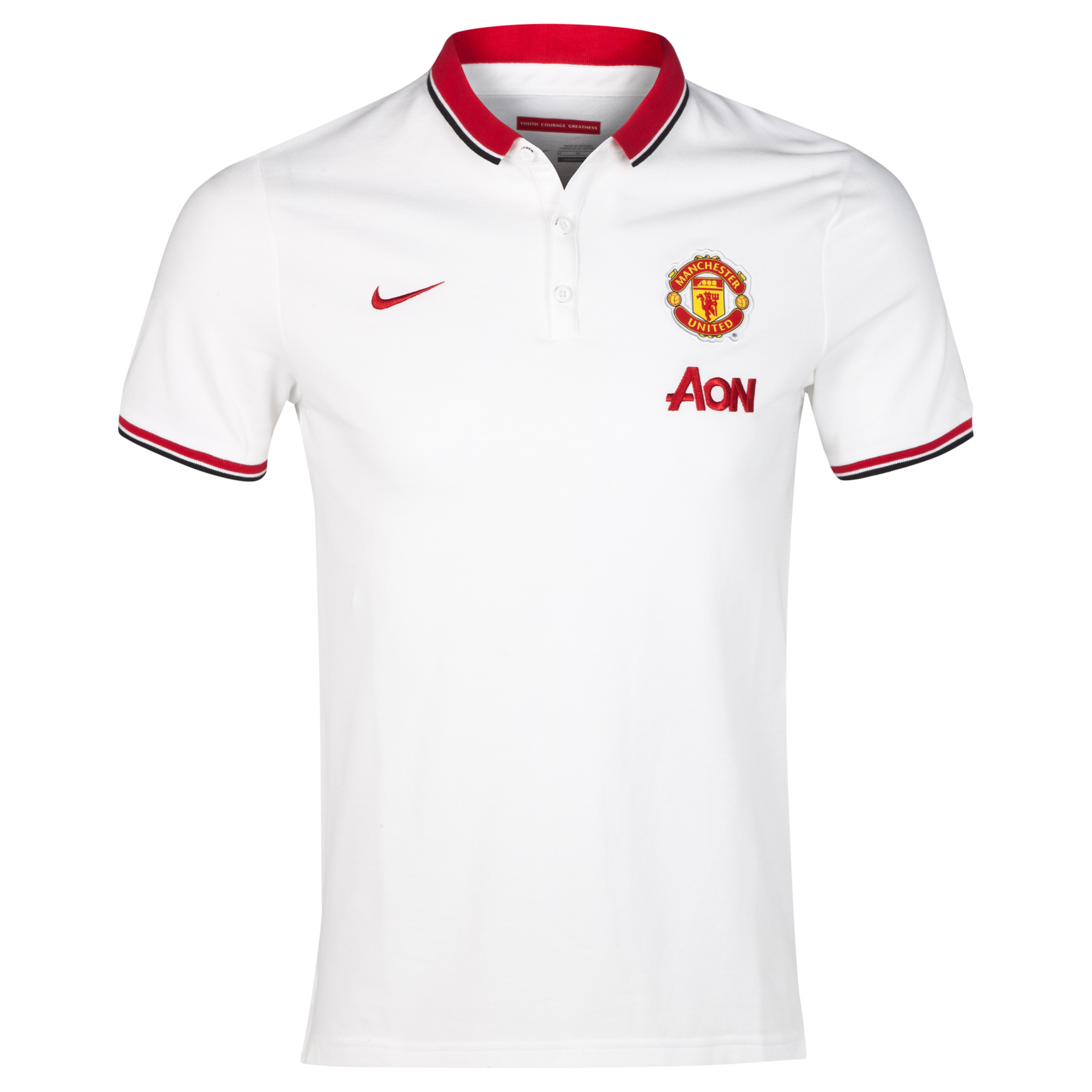 Manchester United League Authentic Polo - Sponsored-White