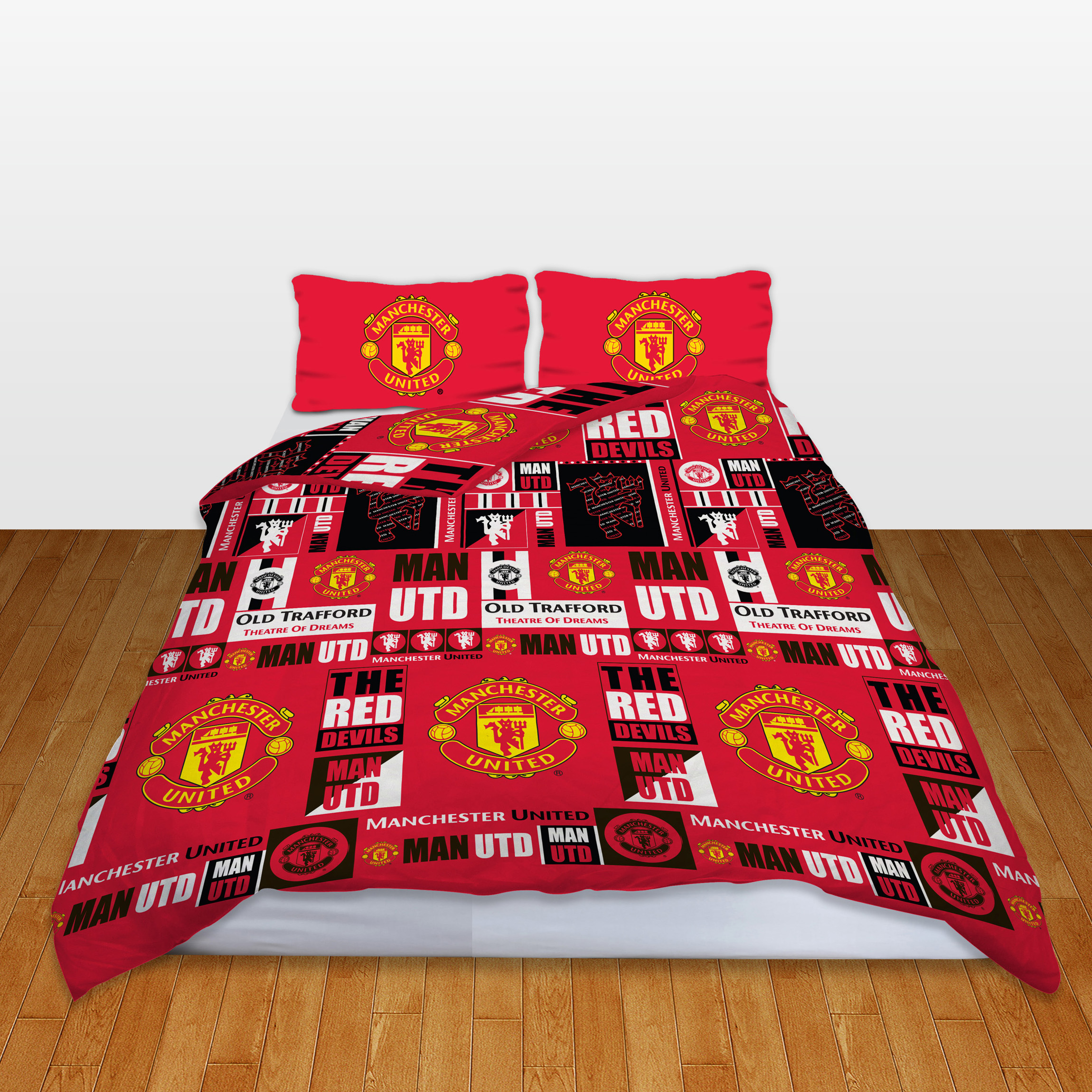 Manchester United Tag Rotary Duvet Set - Double
