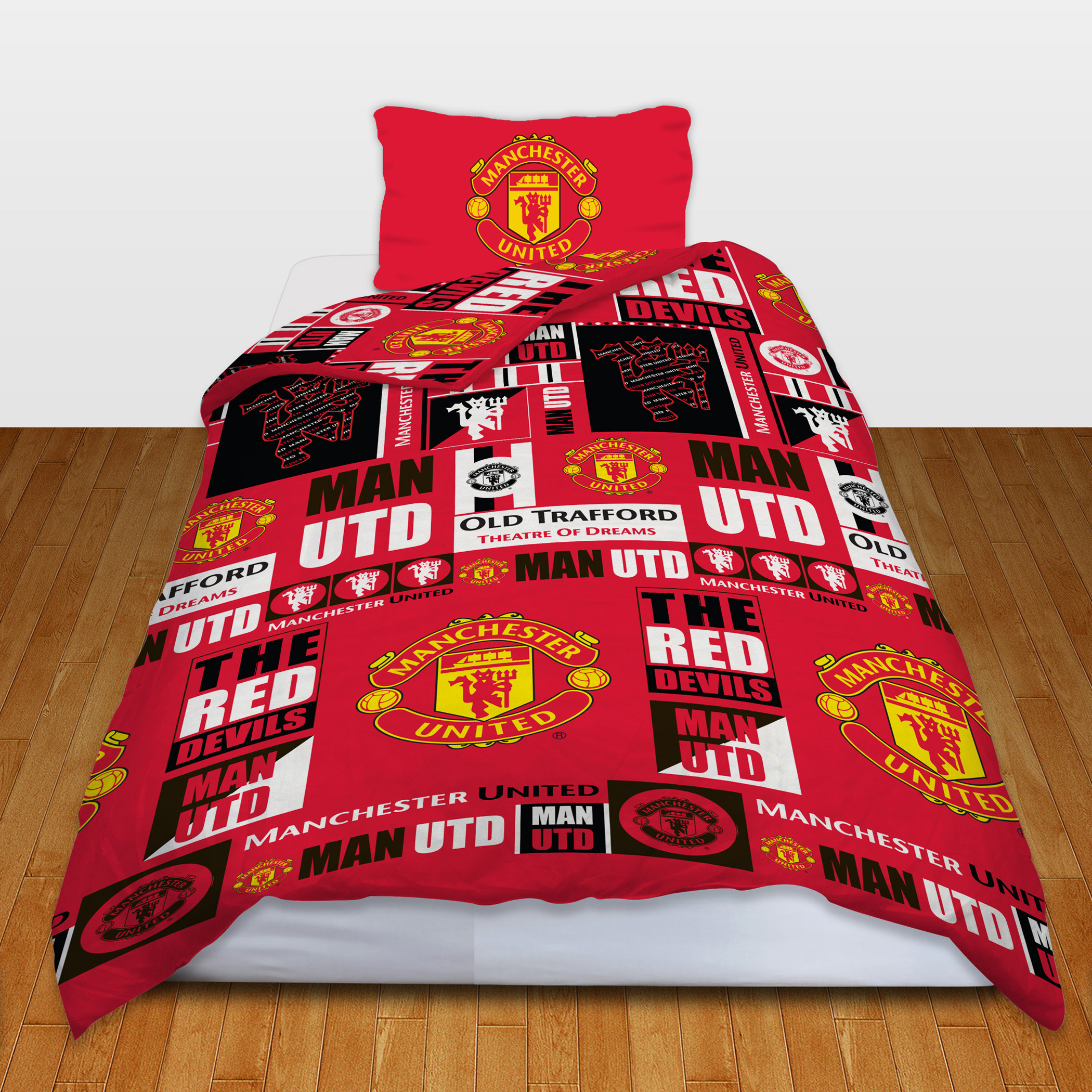 Manchester United Tag Rotary Duvet Set - Single