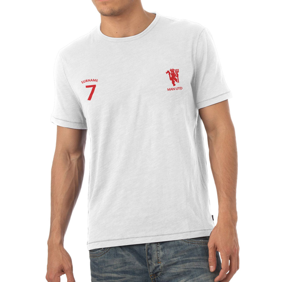 Manchester United Personalised Sports T-shirt White