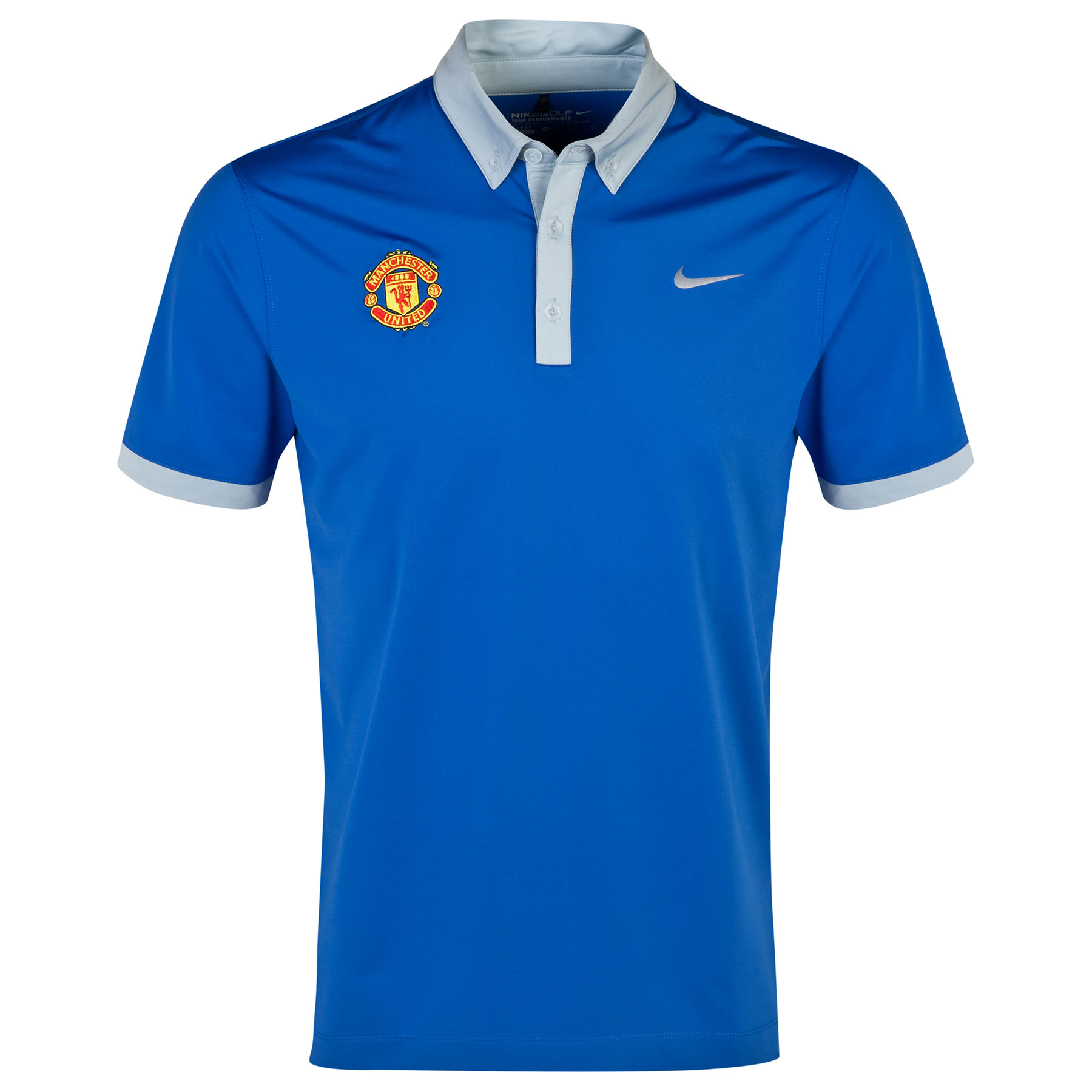 Manchester United Nike Golf Polo Royal Blue