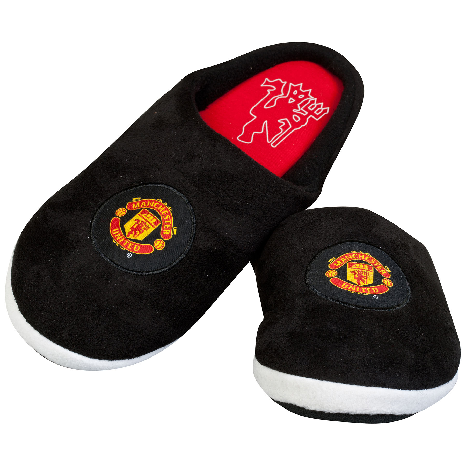 Manchester United Midfielder Slippers - Black - Older Boys