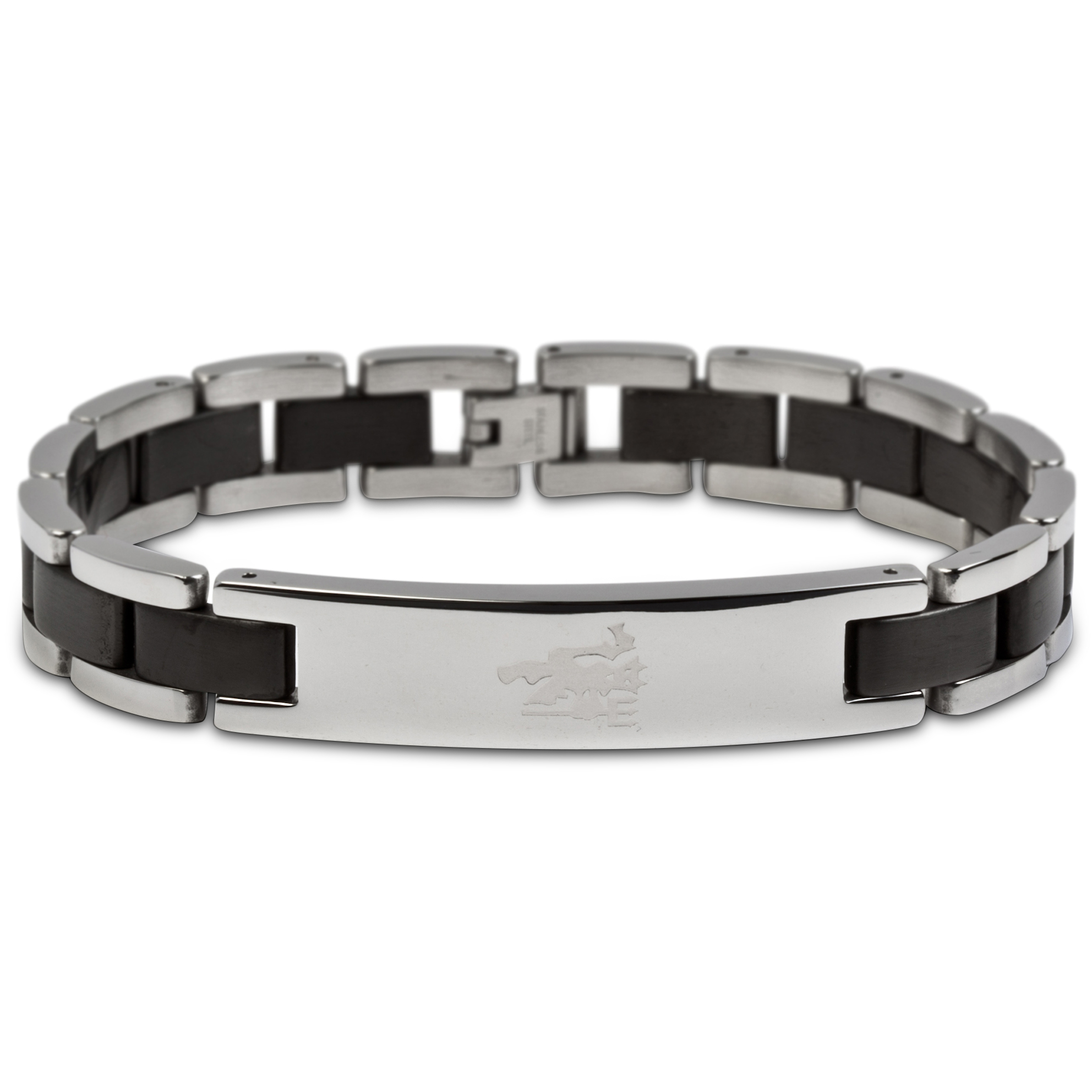 Manchester United Devil Black Inlay Bracelet - Stainless Steel