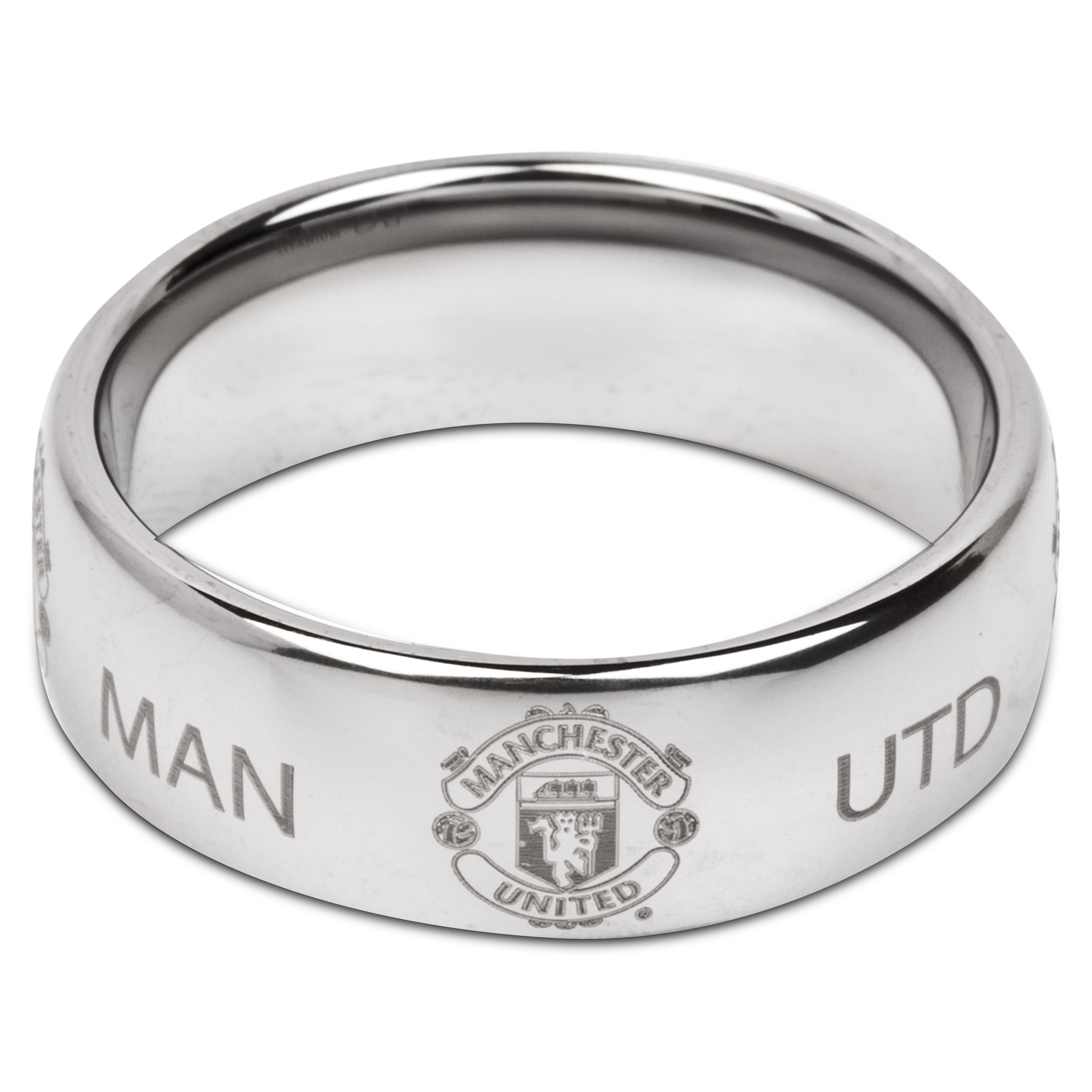 Manchester United Crest Ring - Super Titanium