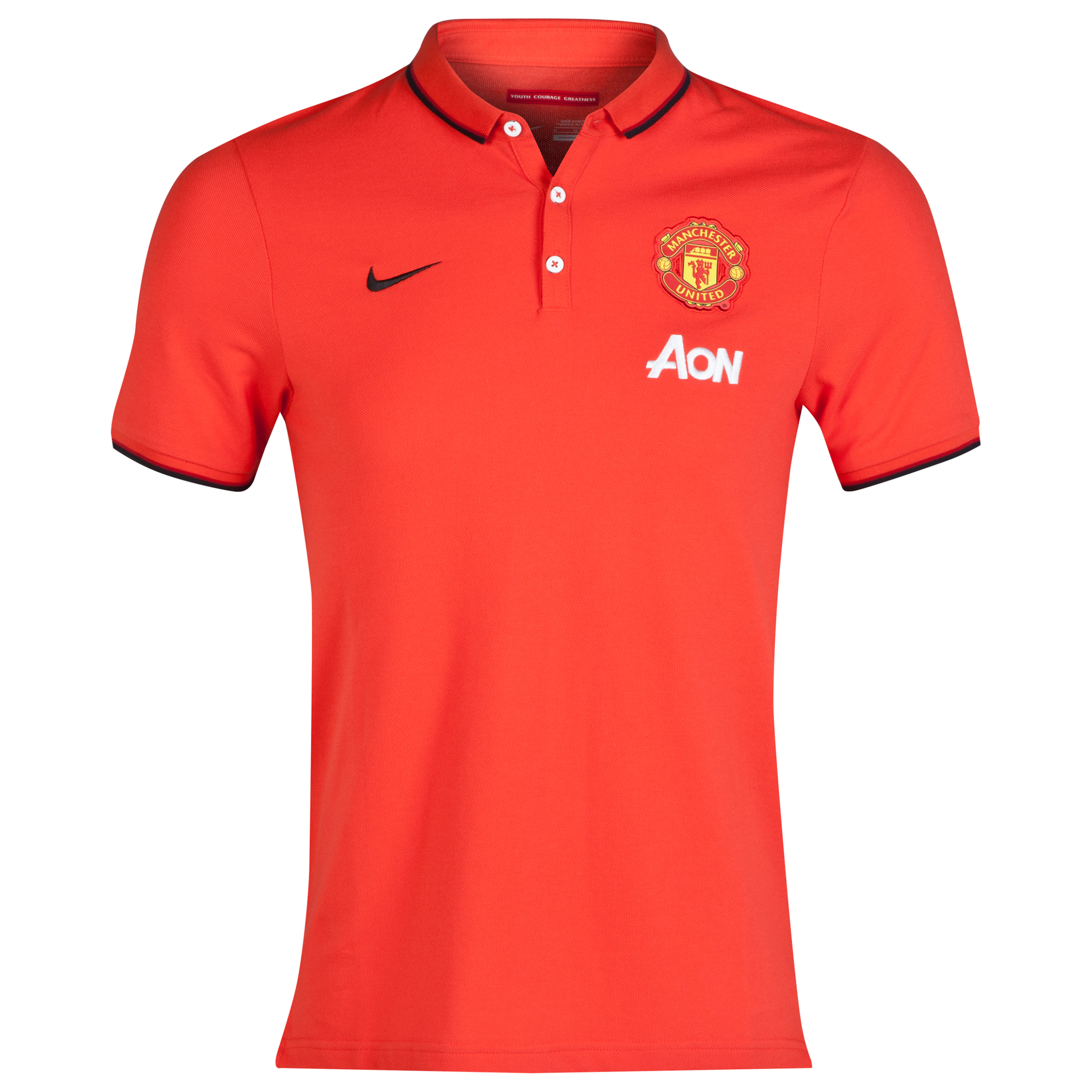 Manchester United League Authentic Polo - Sponsored Red