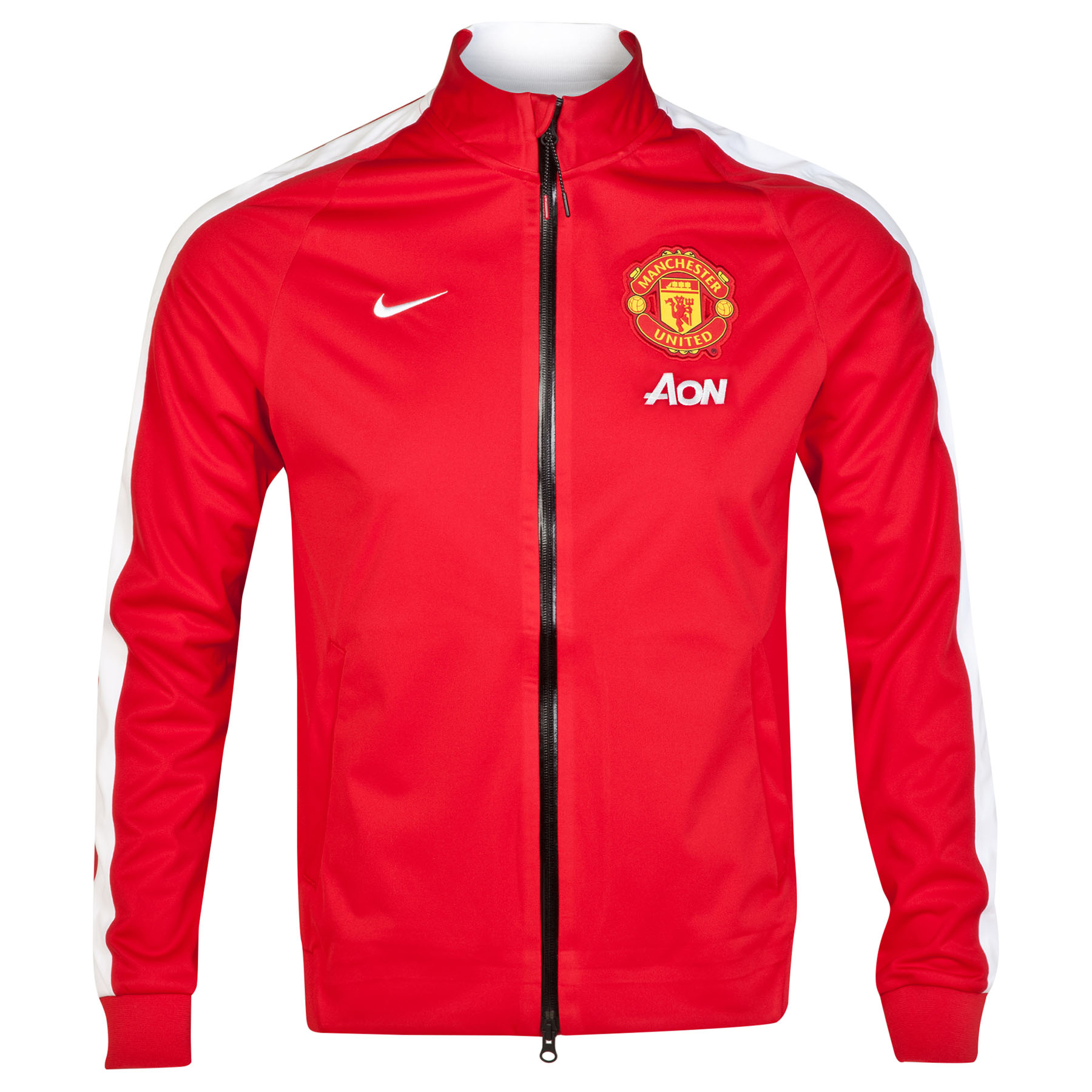 Manchester United N98 Anthem Jacket - Sponsored-Red