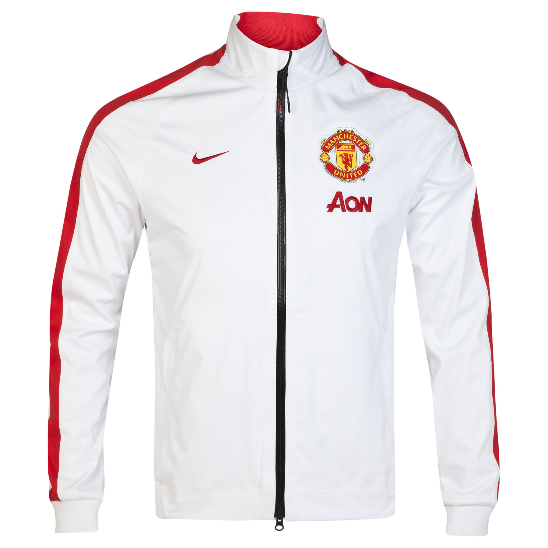 Manchester United N98 Anthem Jacket - Sponsored-White