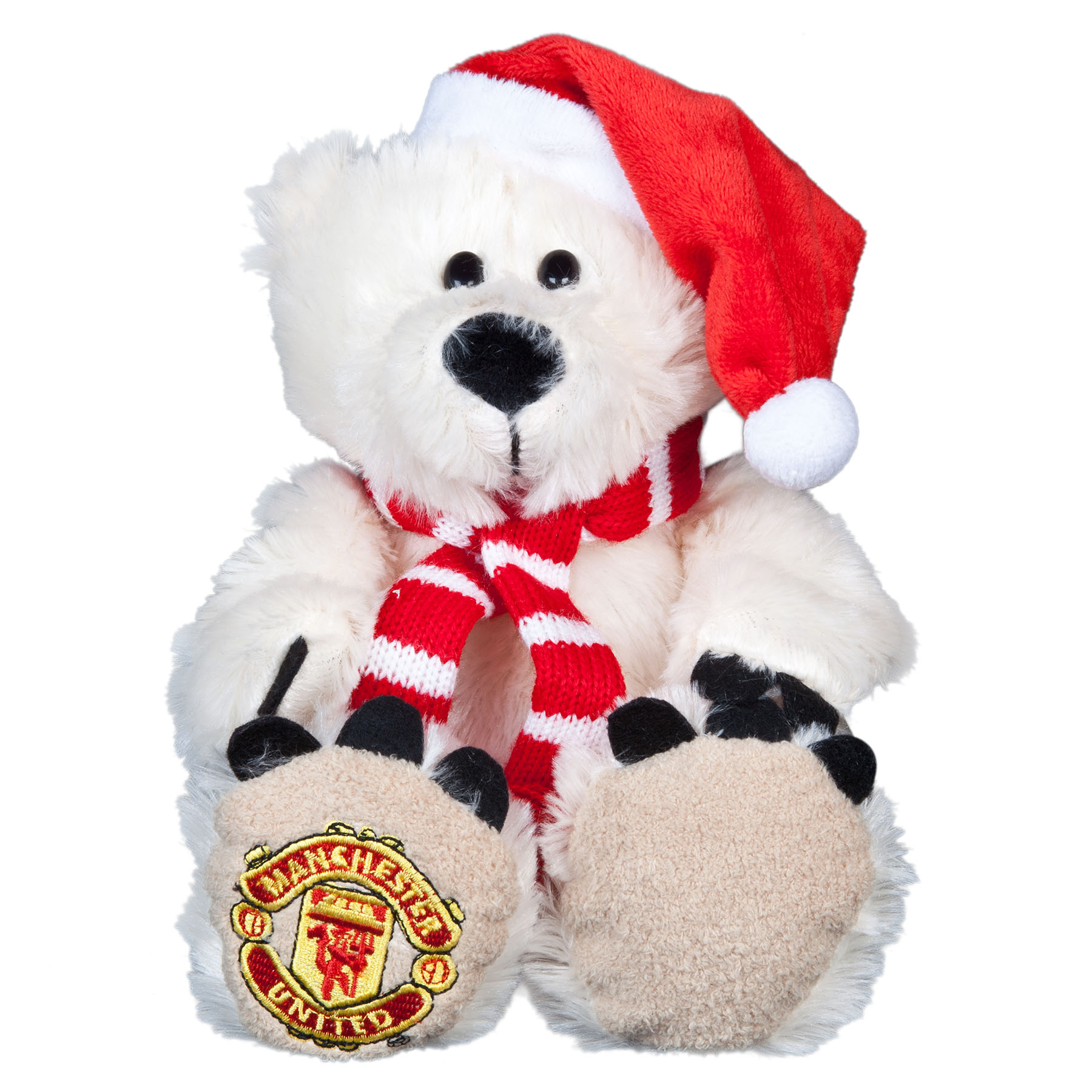 Manchester United Christmas Polar Bear with Hat & Scarf - 8 Inch
