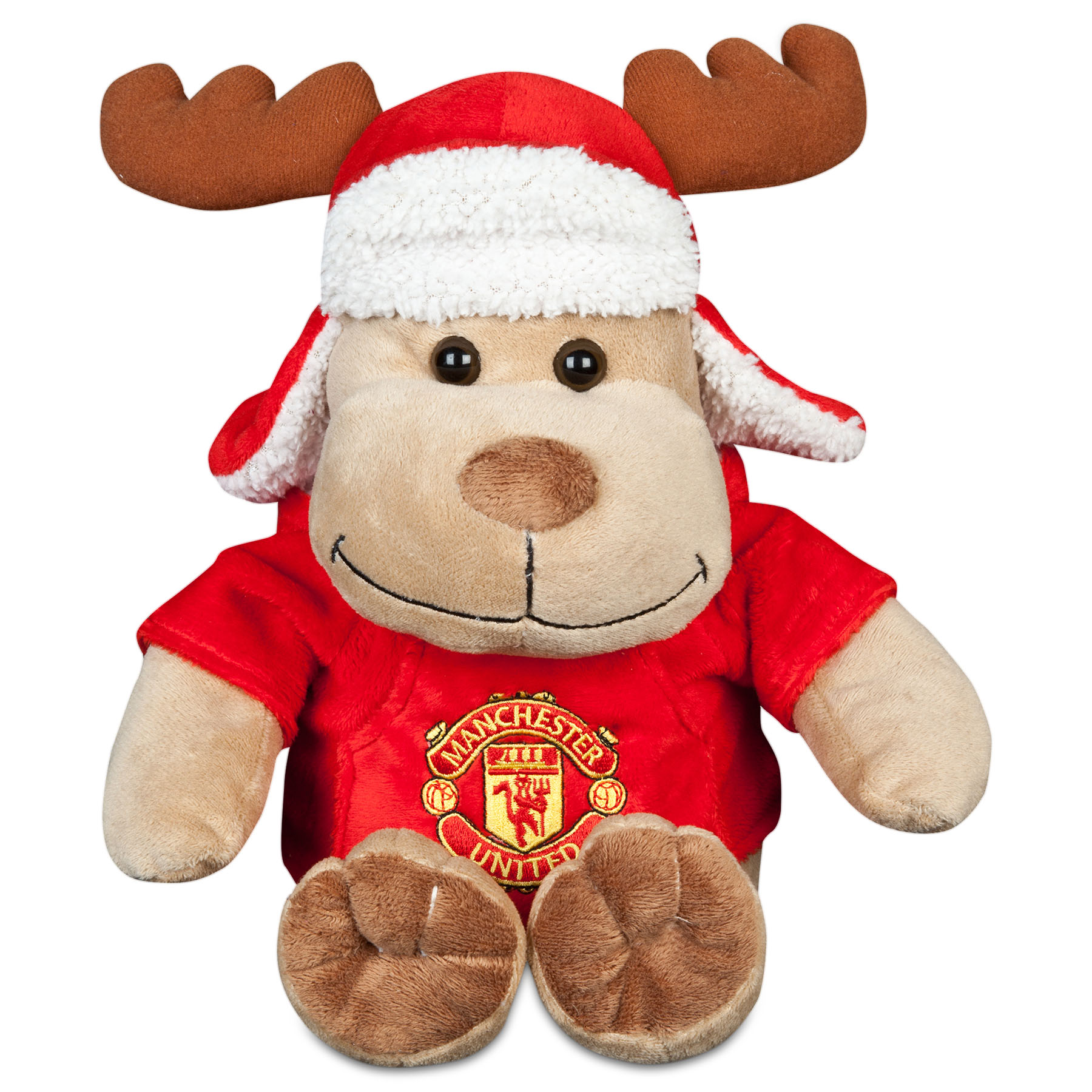 Manchester United Christmas Reindeer with Hat - 6.5 Inch