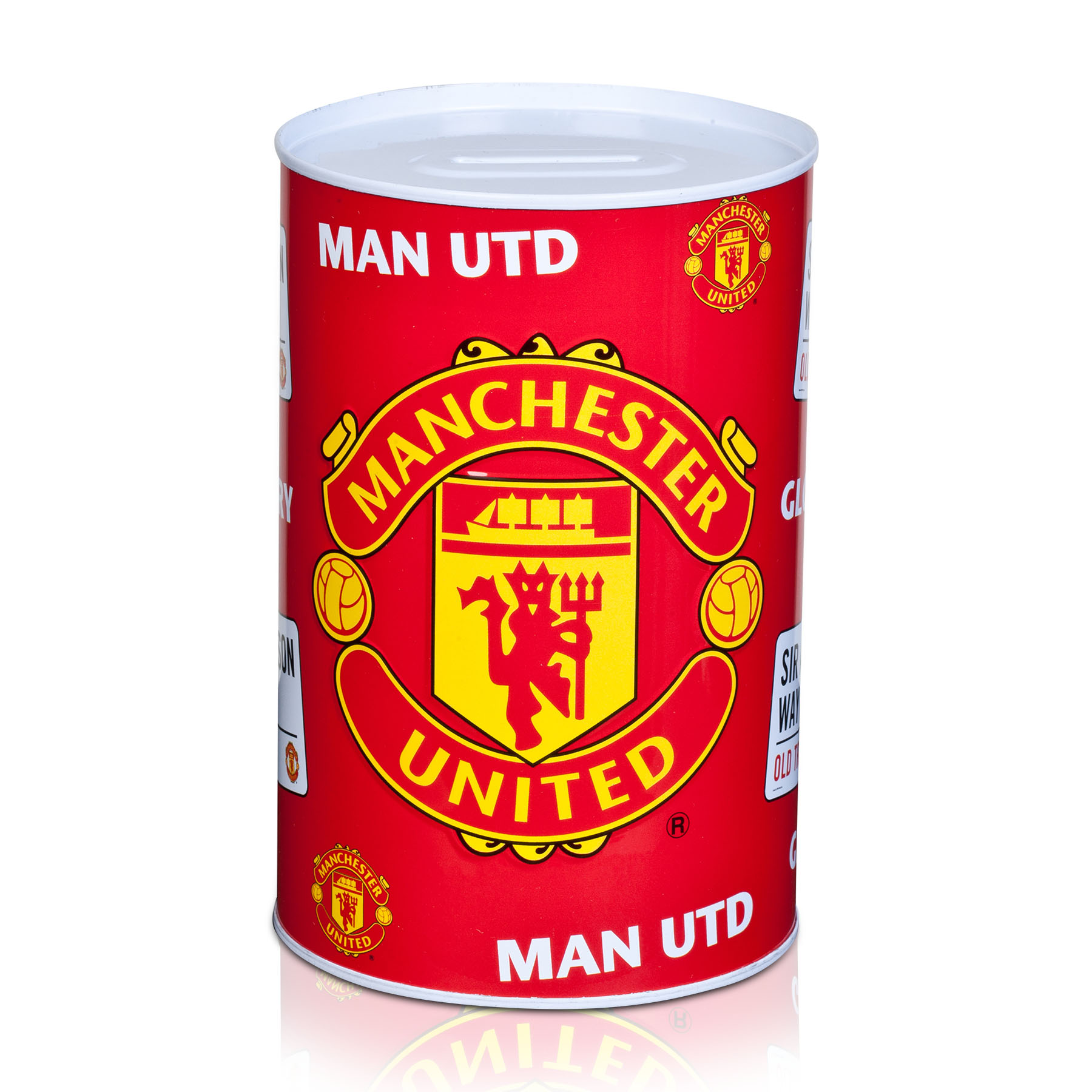 Manchester United Repeat Pattern Money Tin