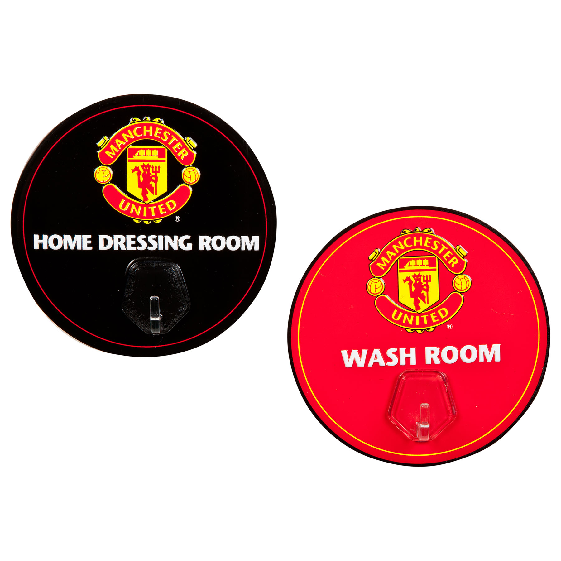 Manchester United Metal Sign with Hook - 2 Pack