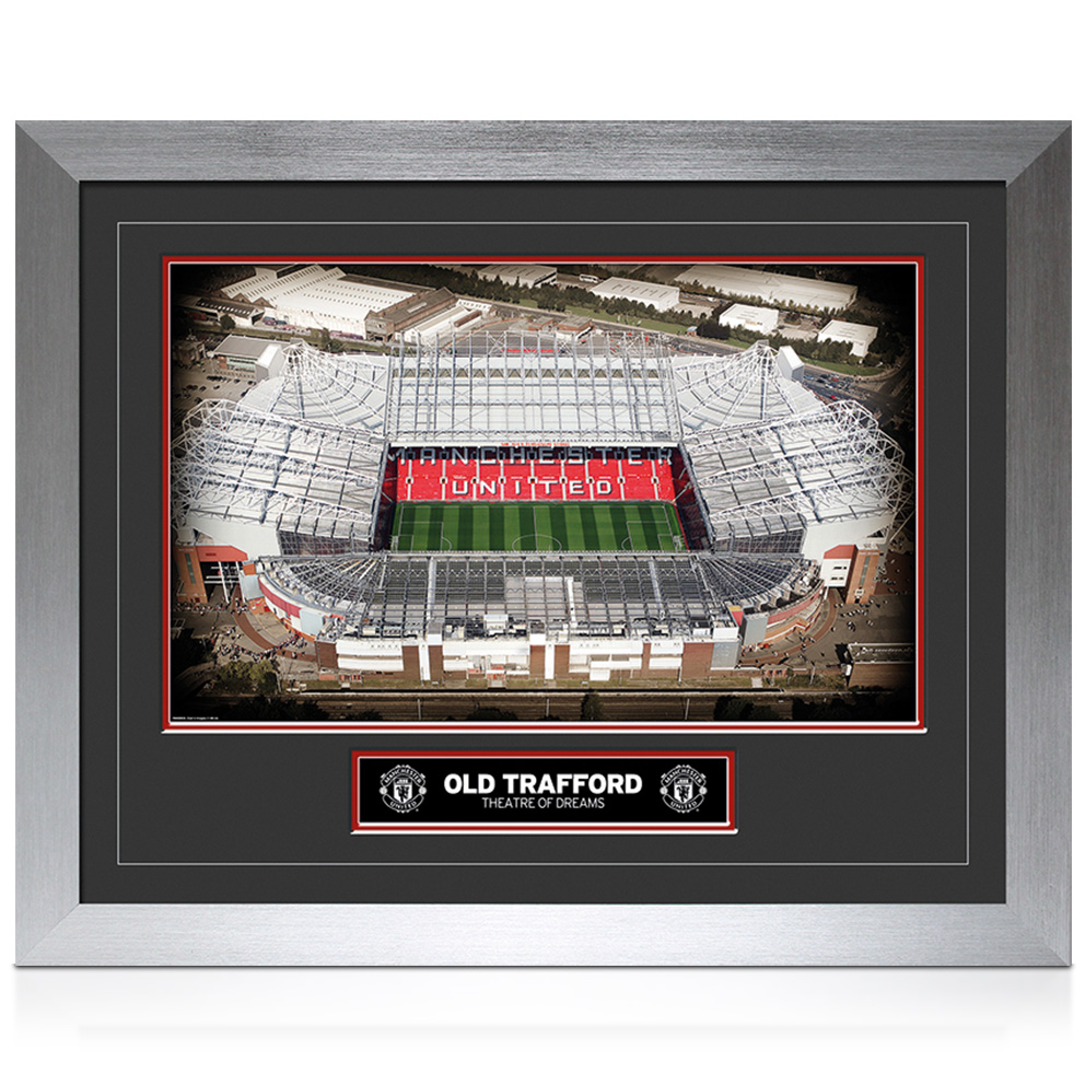 Manchester United Old Trafford Hi-End Framed Print - 20 x 16