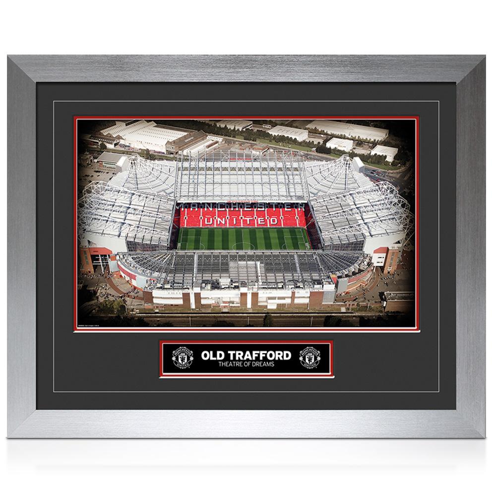 Manchester United Old Trafford Hi-End Framed Print - 20 x 16